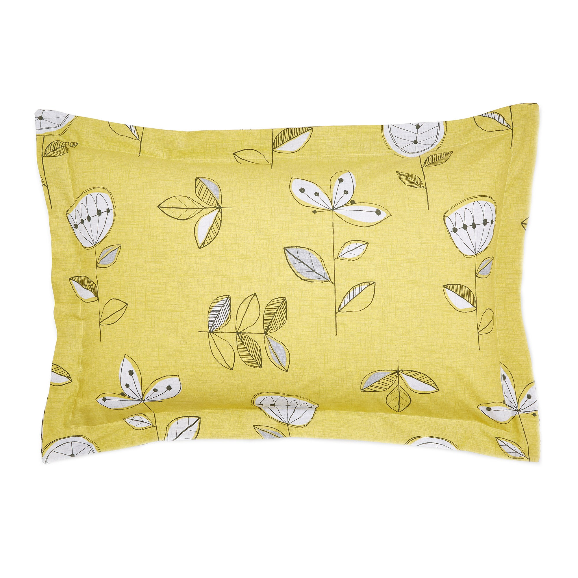 Image of Elements Sunflower Yellow Oxford Pillowcase Yellow