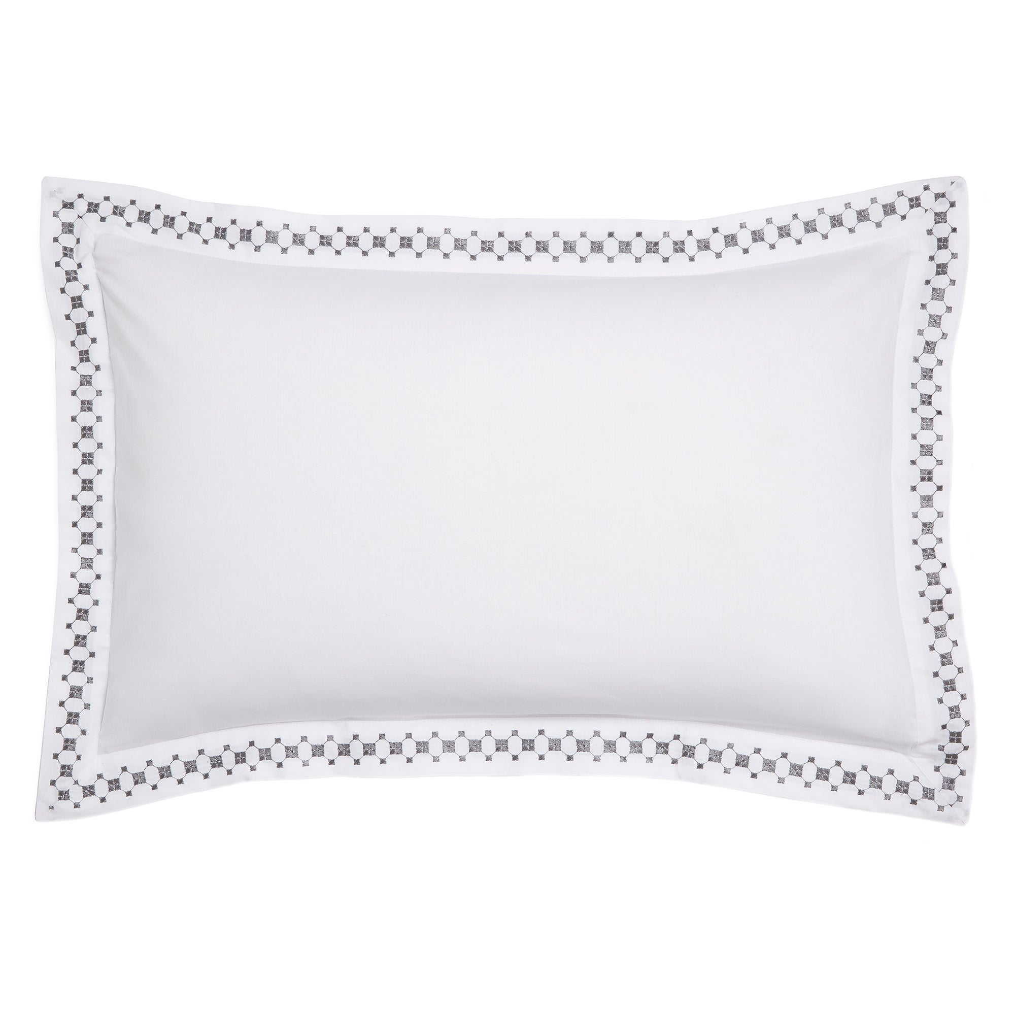Image of Ameya Grey Oxford Pillowcase Grey
