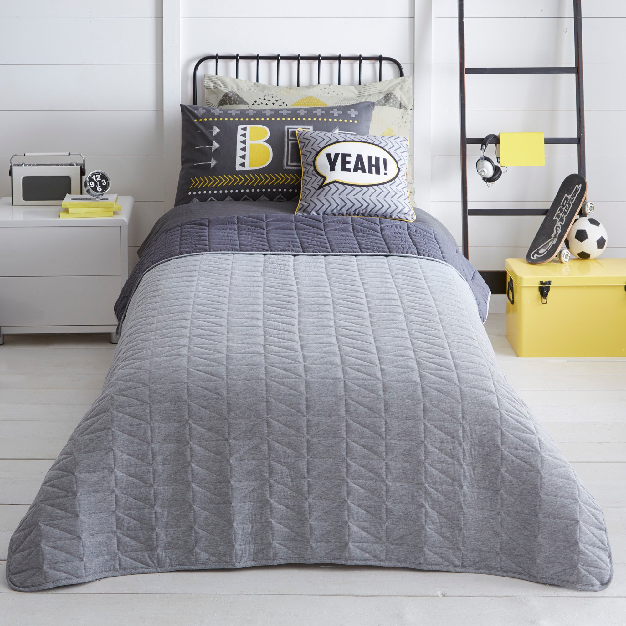 Image of Be Awesome Throw Grey