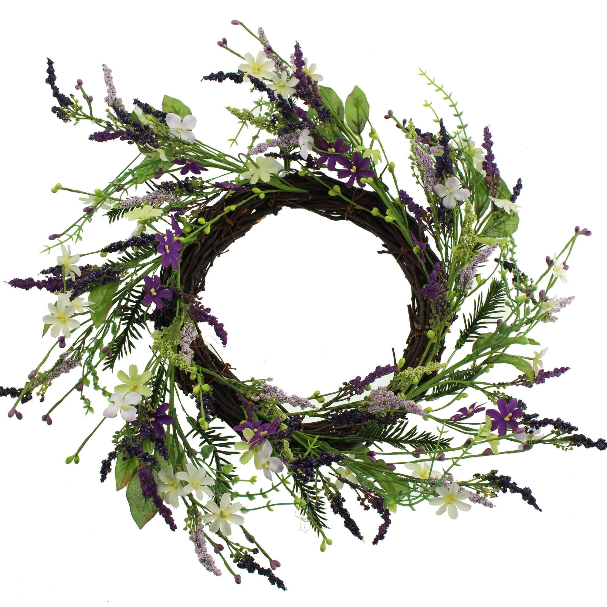 Image of Secret Garden Flower Wreath Purple
