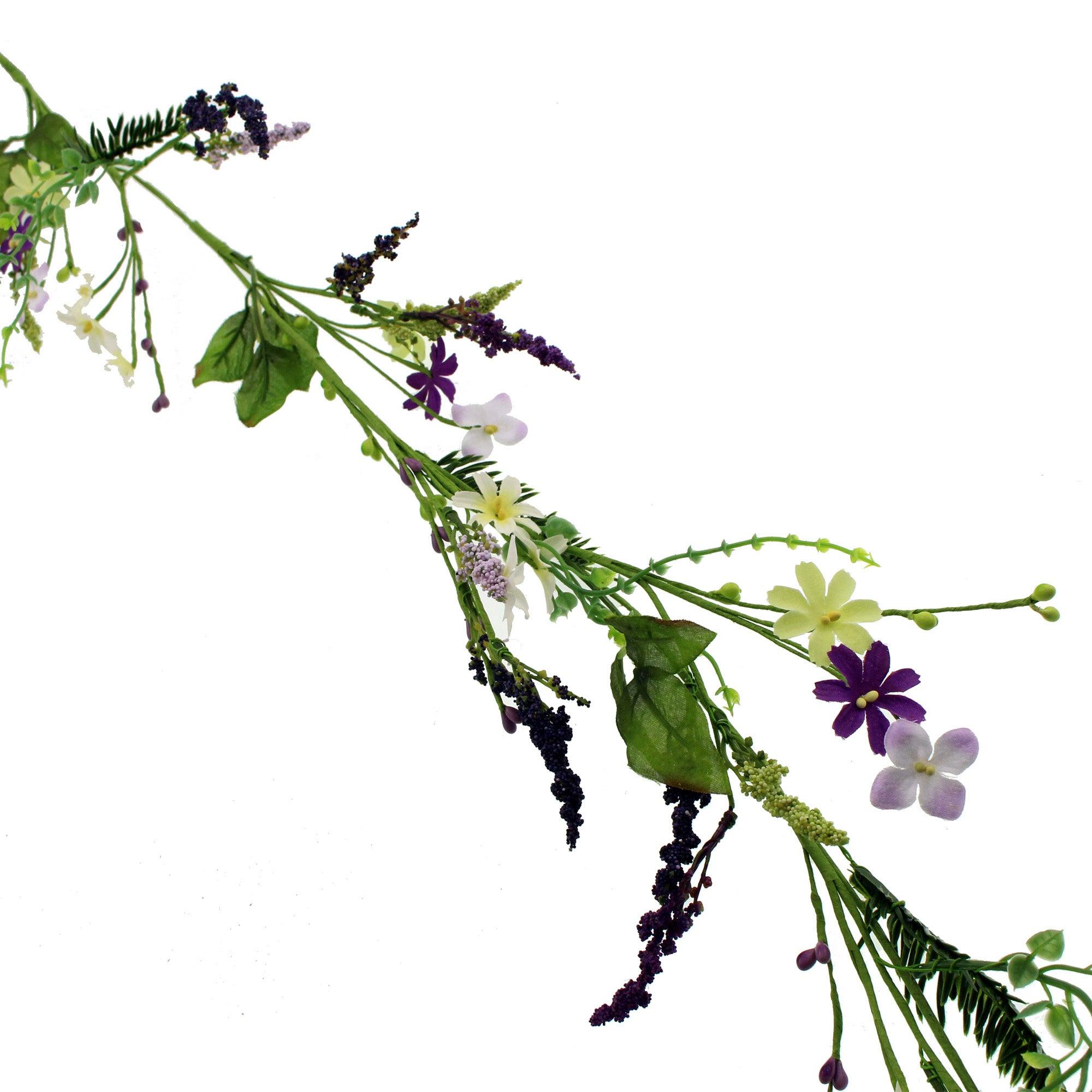 Image of Secret Garden Flower Garland Purple