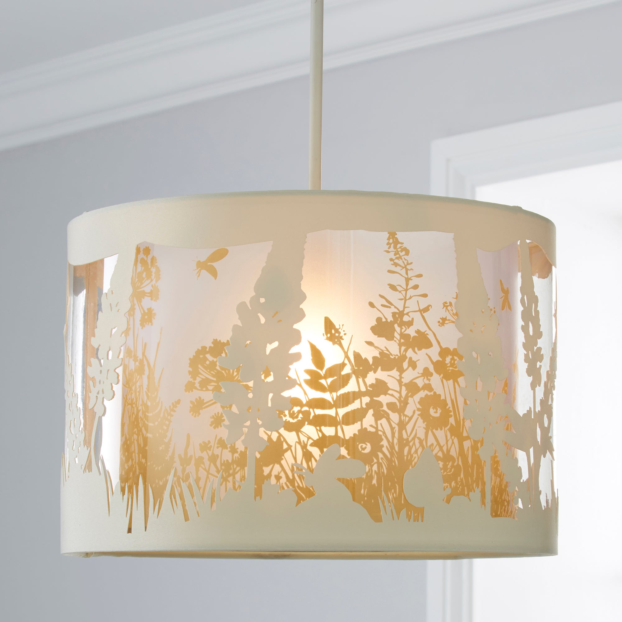 Photo of Woodland layered pendant shade cream -natural-