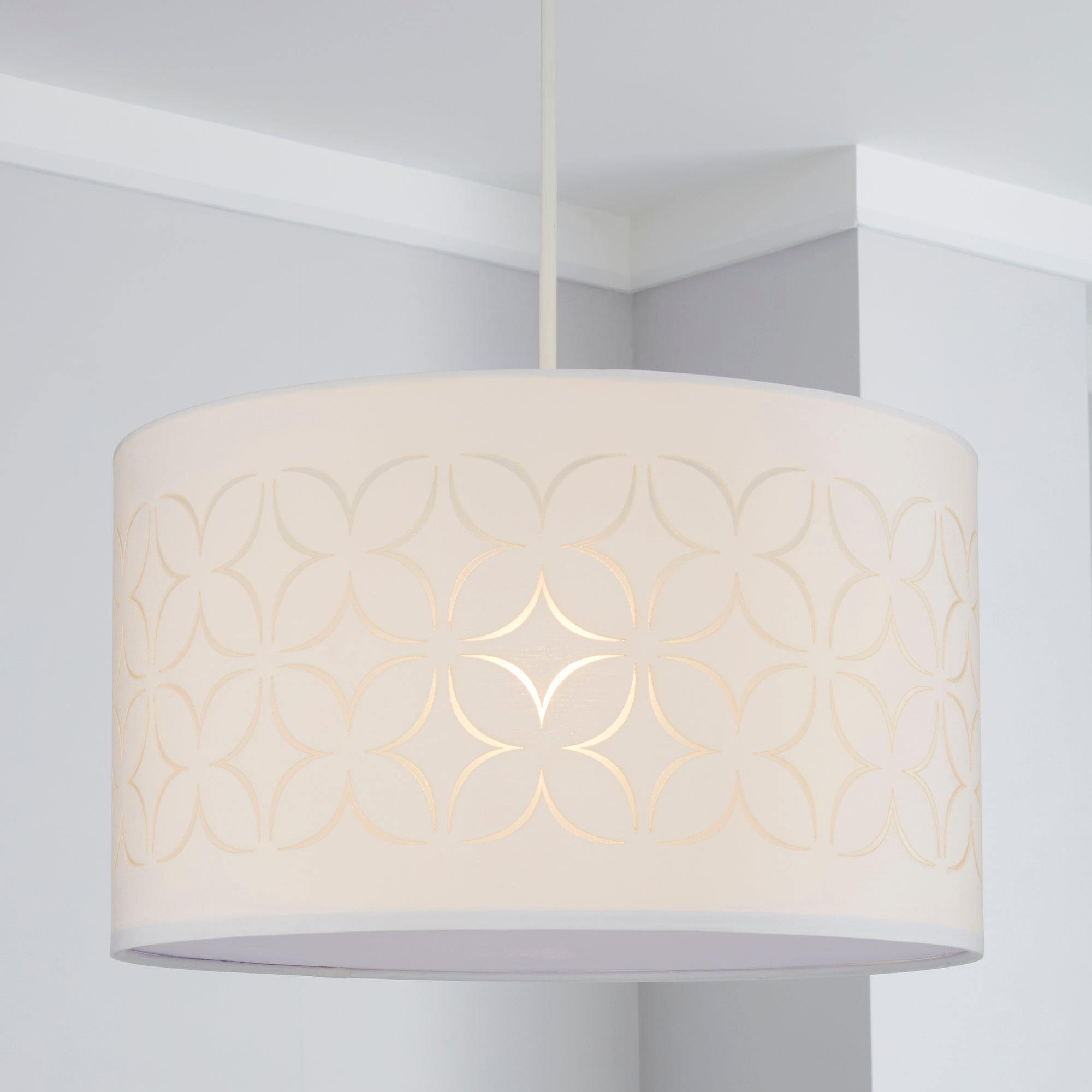 Image of Geo Flower Light Shade Ivory (White)