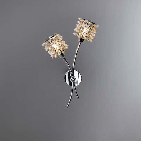 jaimee 2 light chrome wall light