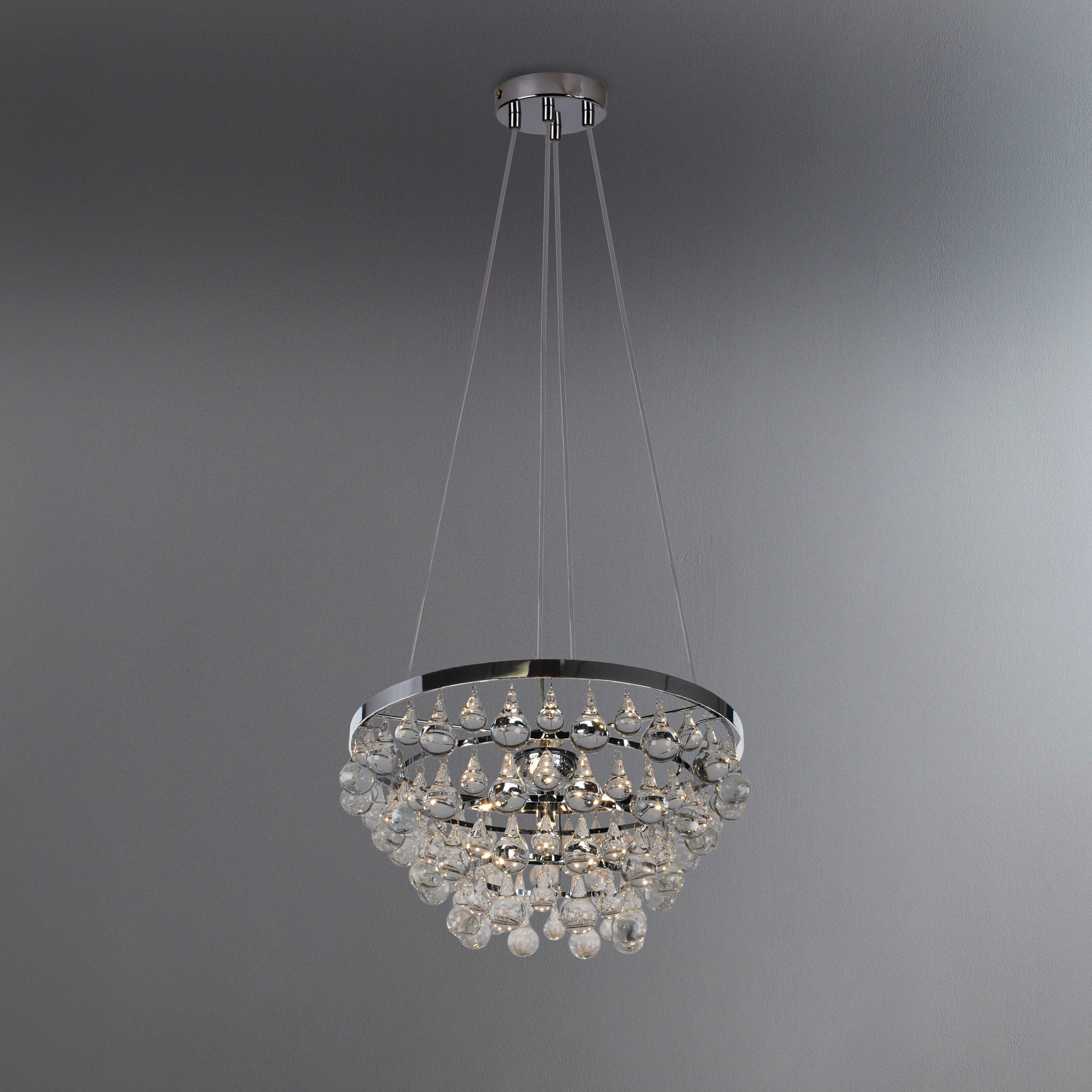 Photo of Hotel 4 light luxe chrome droplet ceiling fitting chrome