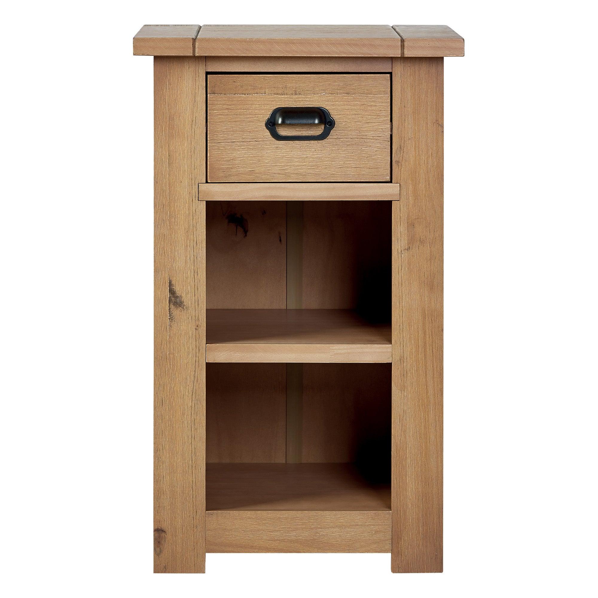 Photo of Fenton pine telephone table brown