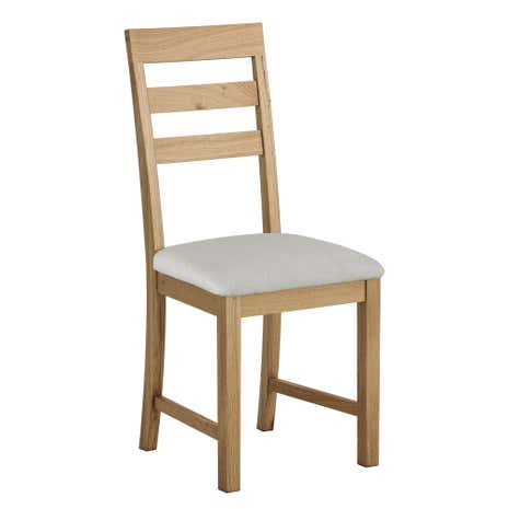 hastings solid oak pair of dining chairs | dunelm
