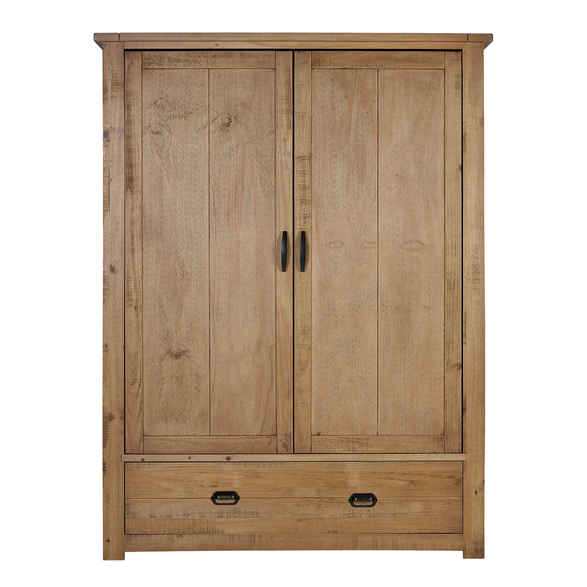 Photo of Fenton pine gents wardrobe brown
