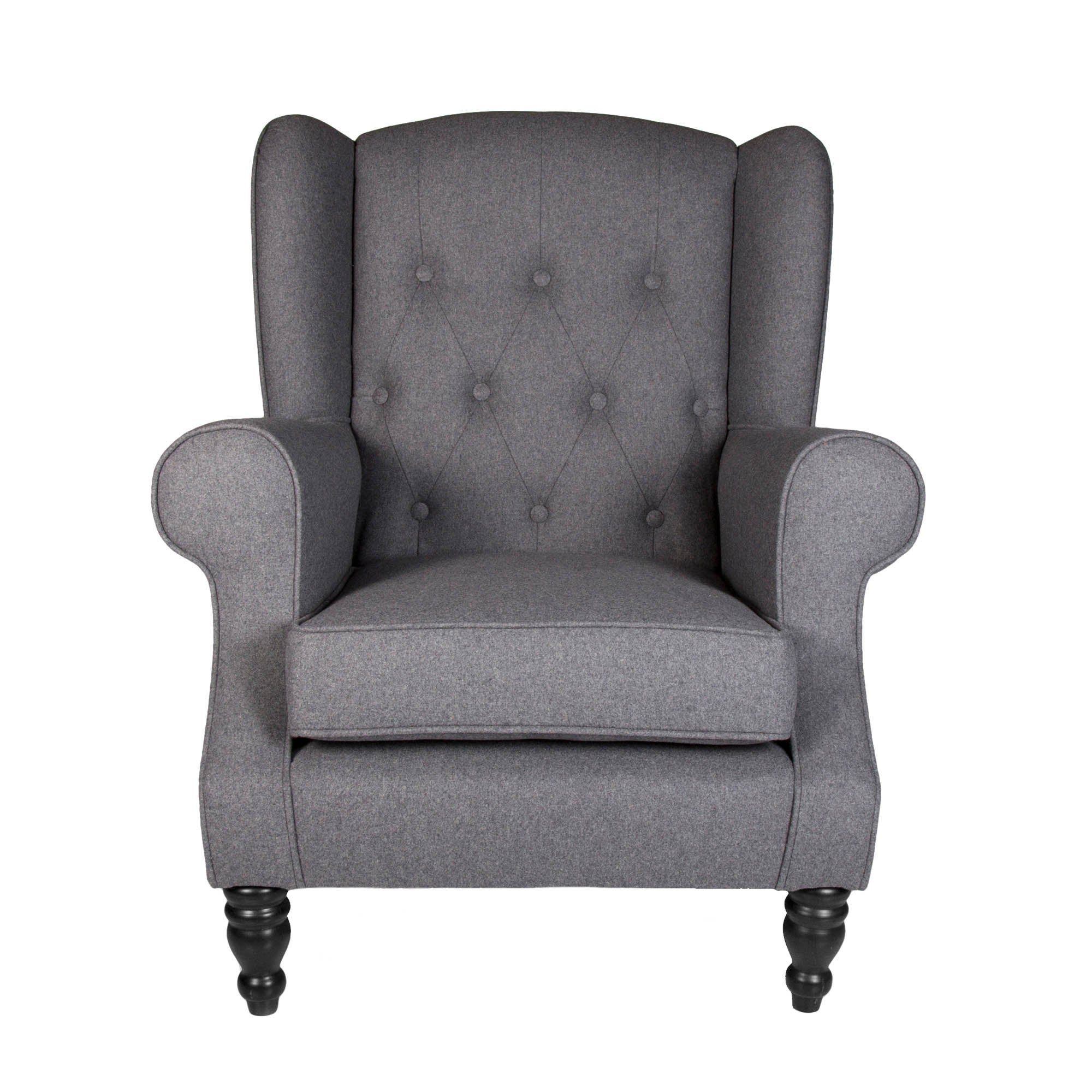 Shop all bedroom furniture  middot  Chartwell Charcoal Button Back Armchair. Bedroom Chairs   Dunelm