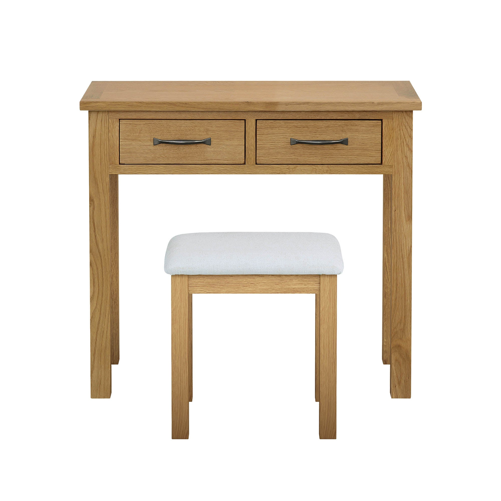 Photo of Sidmouth oak dressing table and stool brown