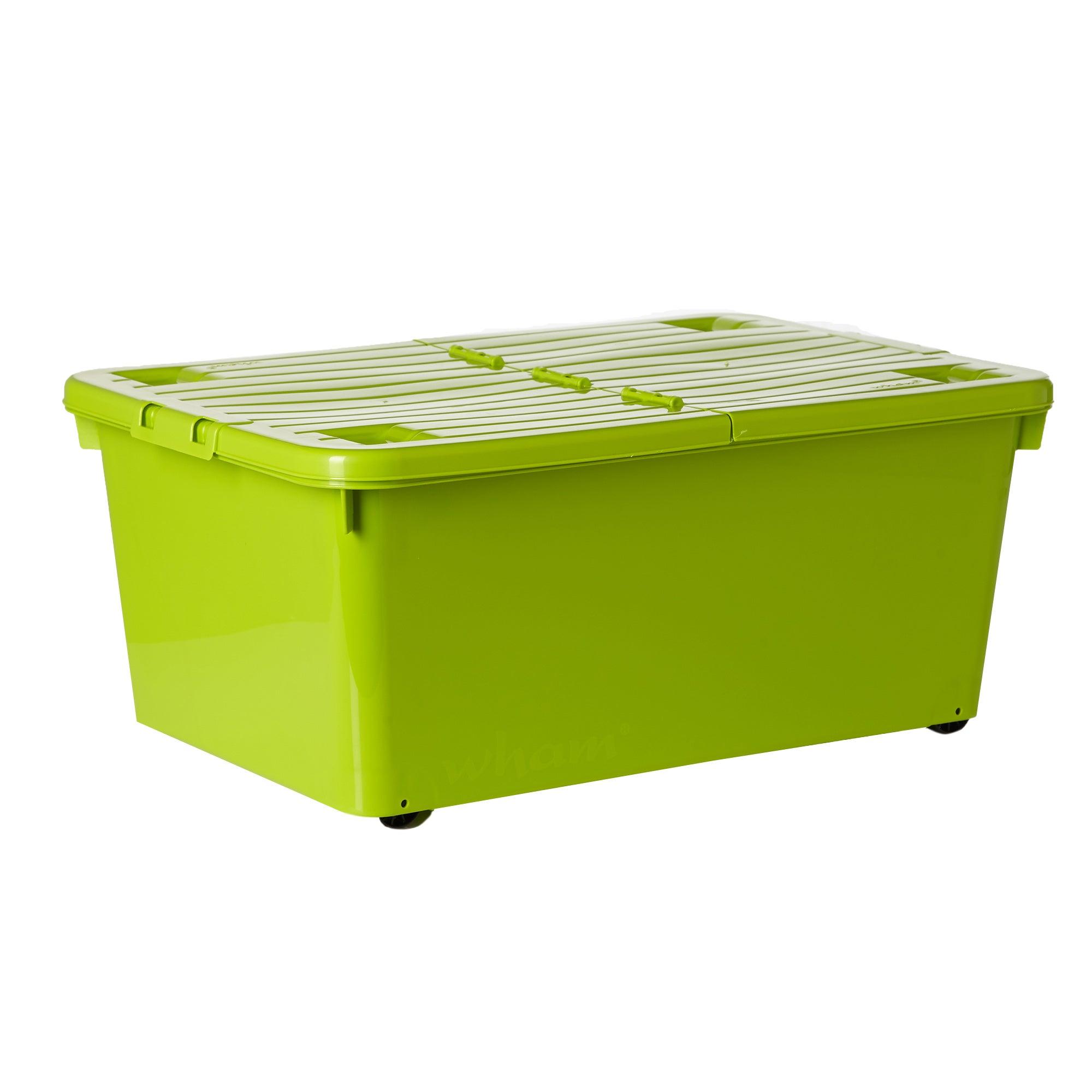 45 Litre Wheeled Storage Box Lime (Green)