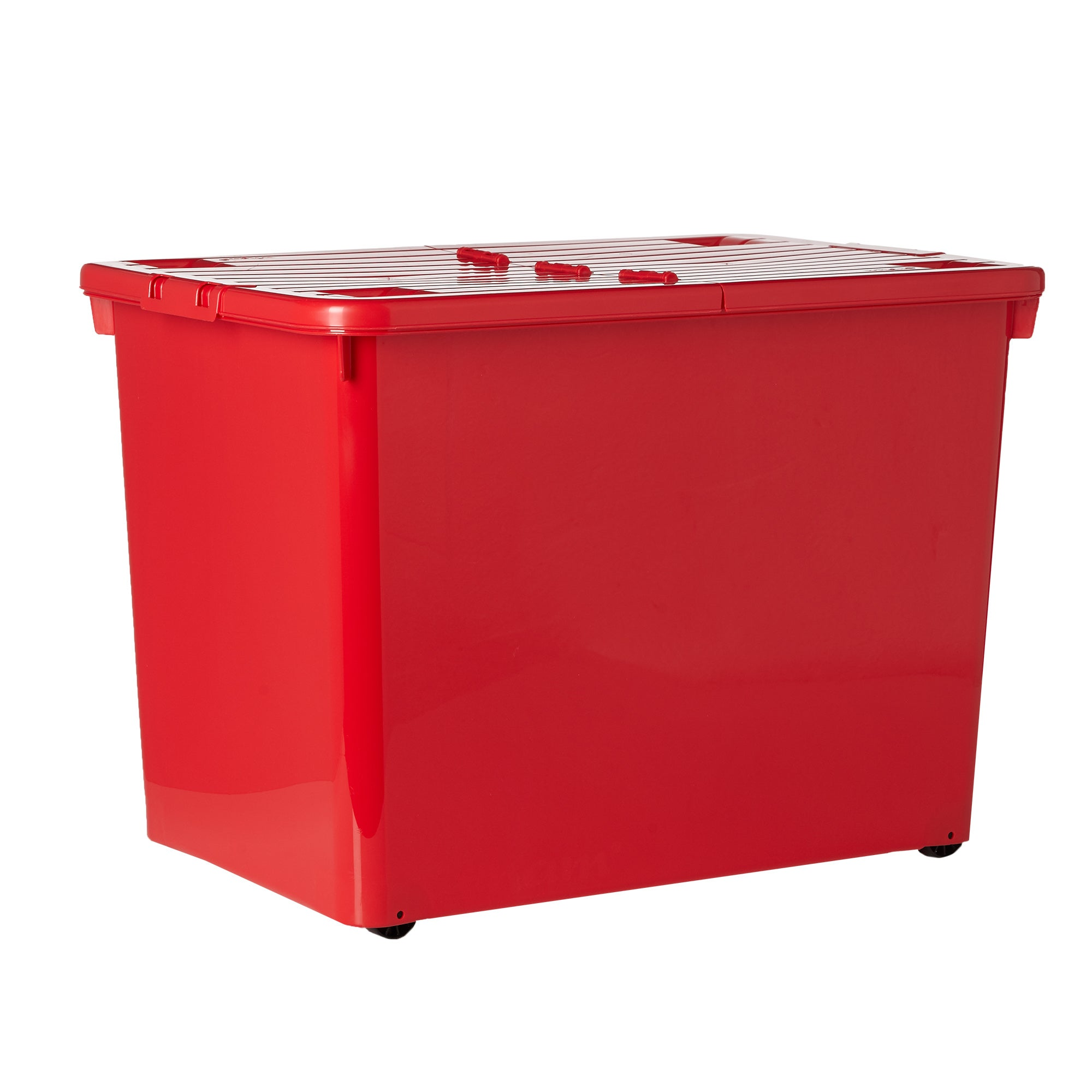 80 Litre Wheeled Storage Box Red