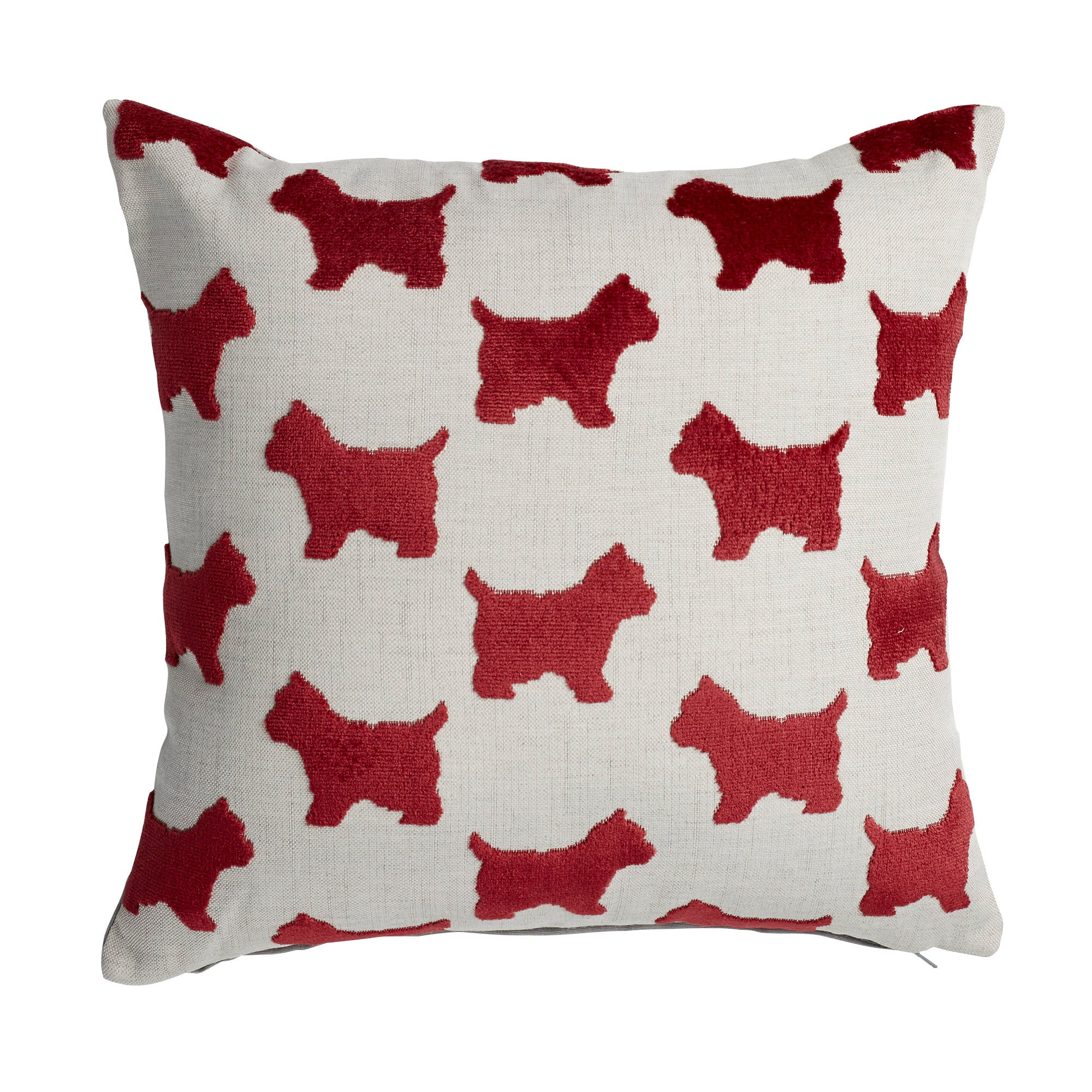 Photo of Velvet red dog cushion red