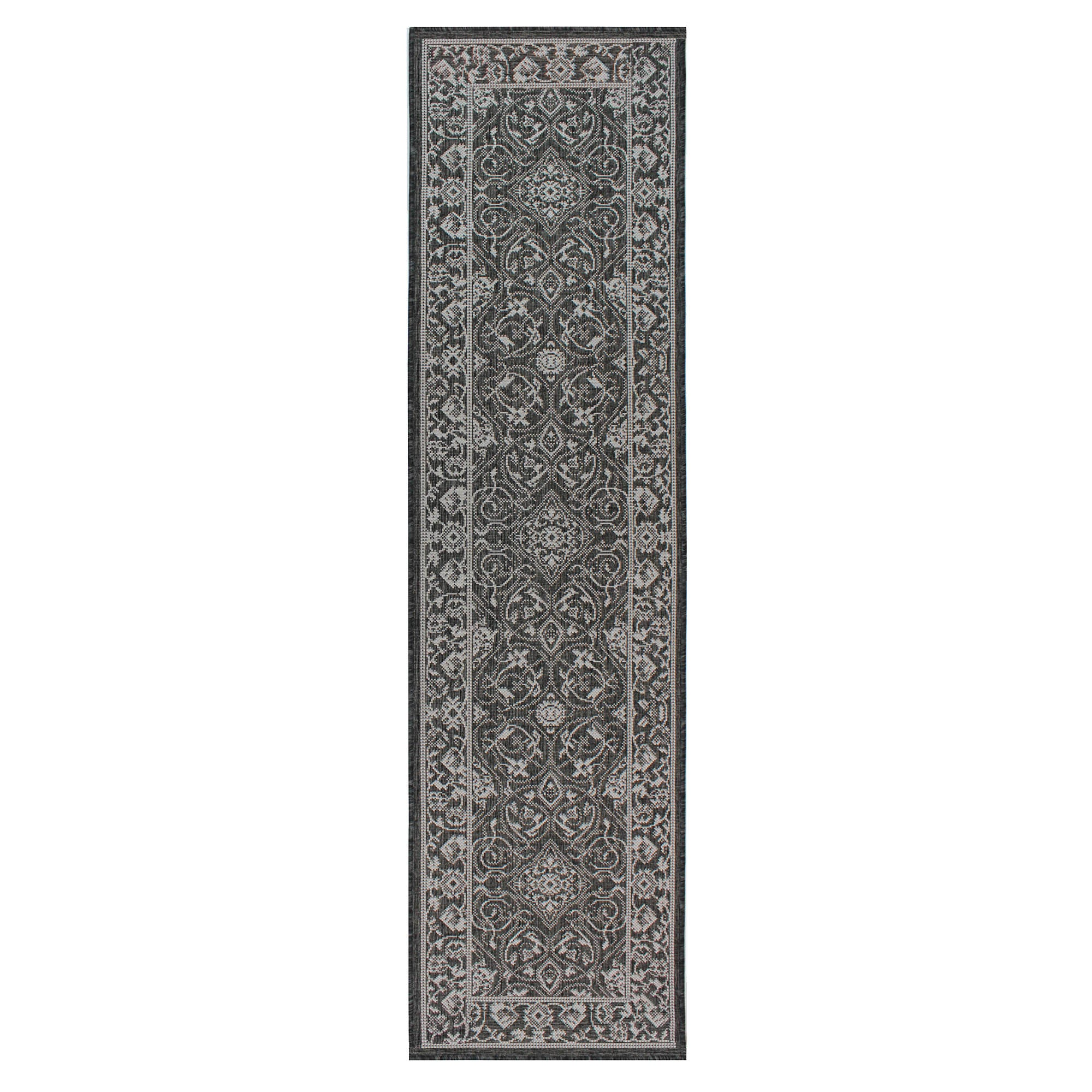 Photo of Black traditional flatweave runner black