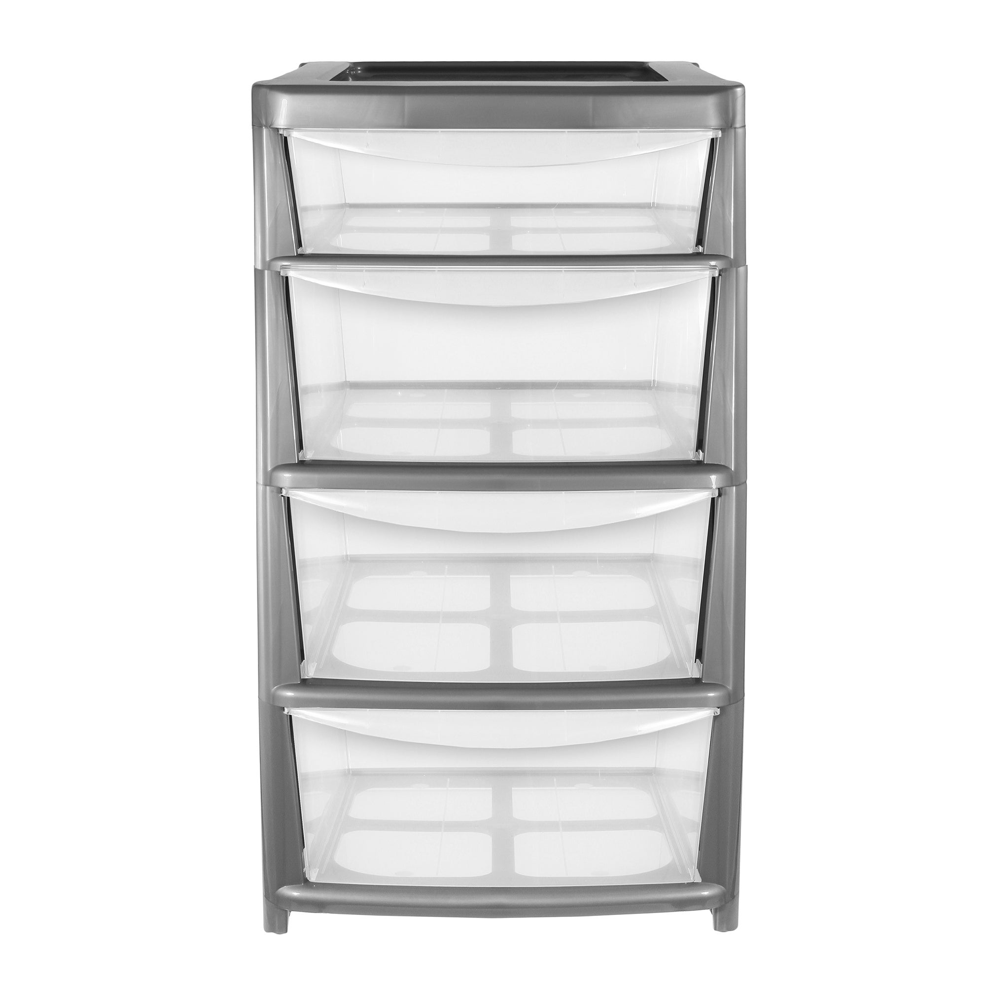 4 Drawer Storage Tower Clear