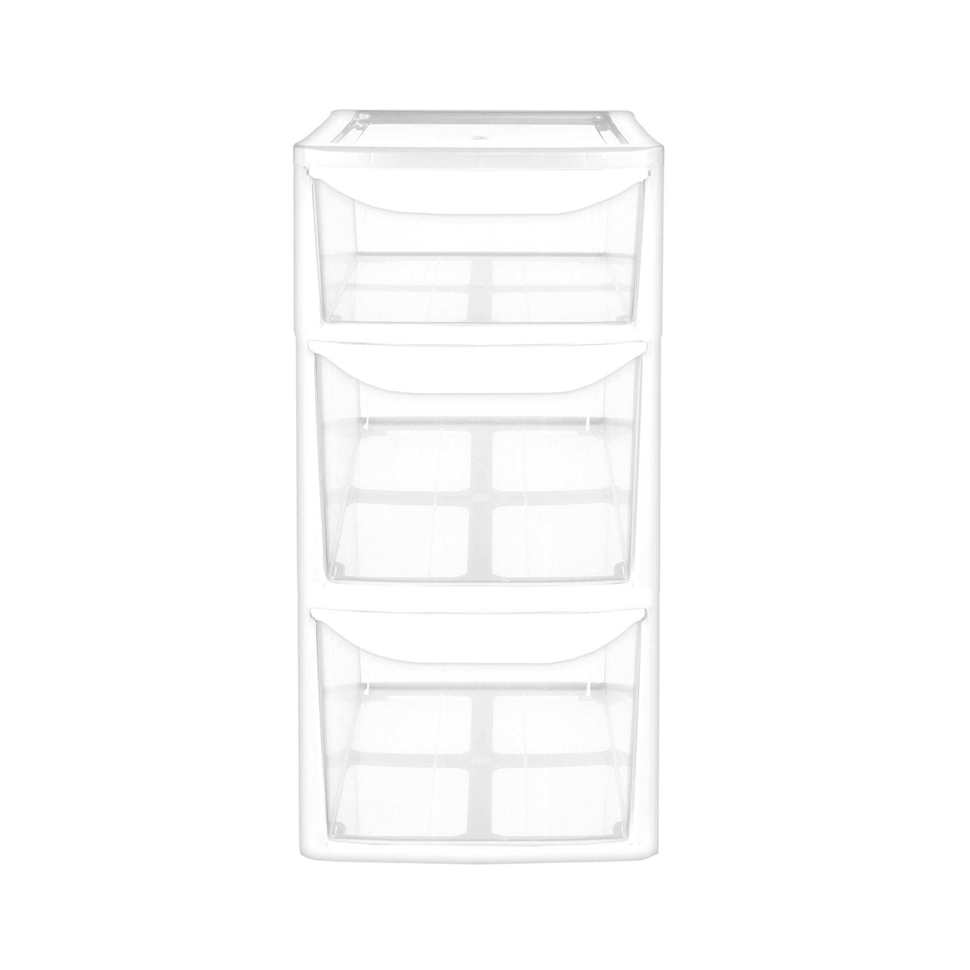3 Drawer Desk Tower White