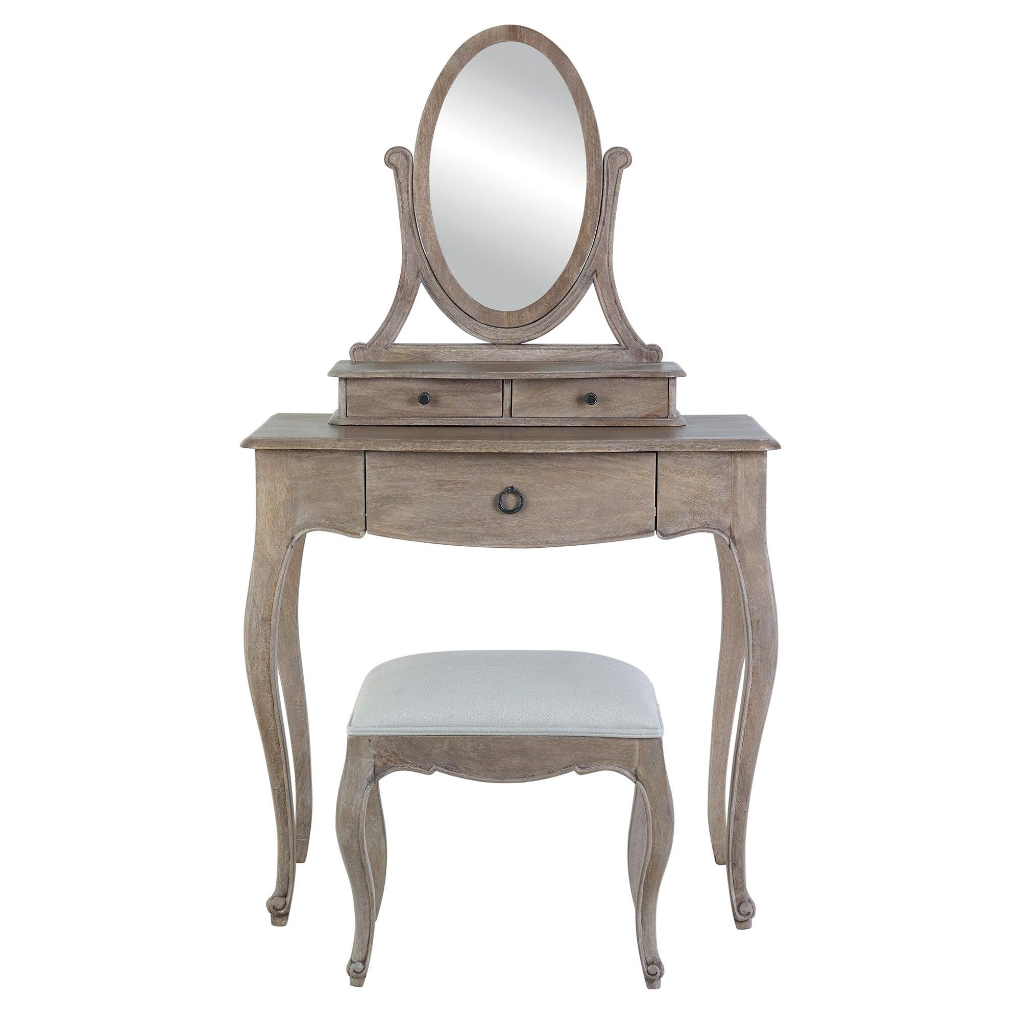 Amelie Dressing Table Set Brown