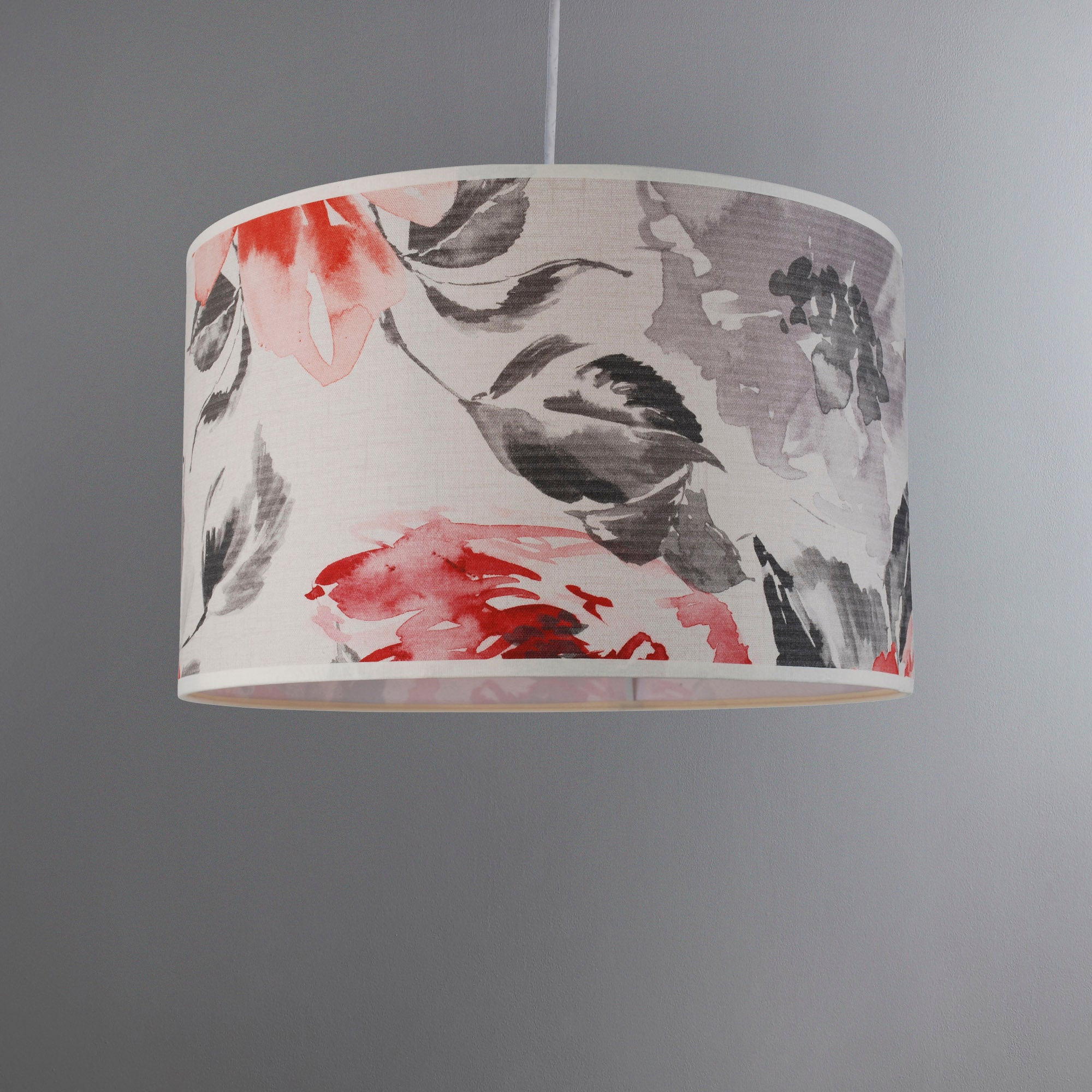 Photo of Mia poppy cylinder light shade red