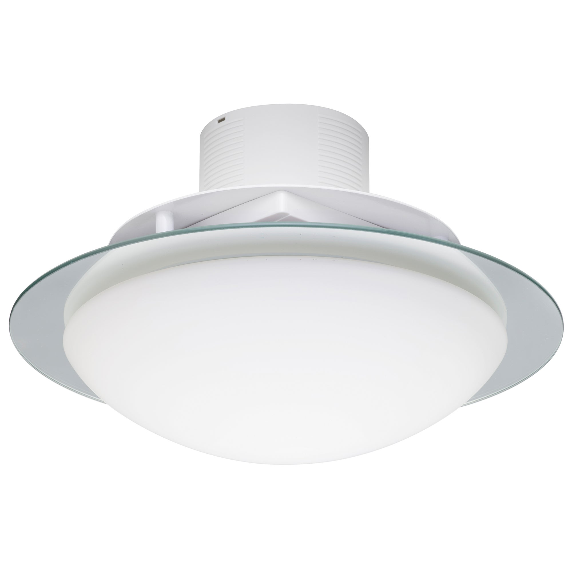 Image of Invierno 2 Light Flush Ceiling Fitting and Extractor Fan Chrome
