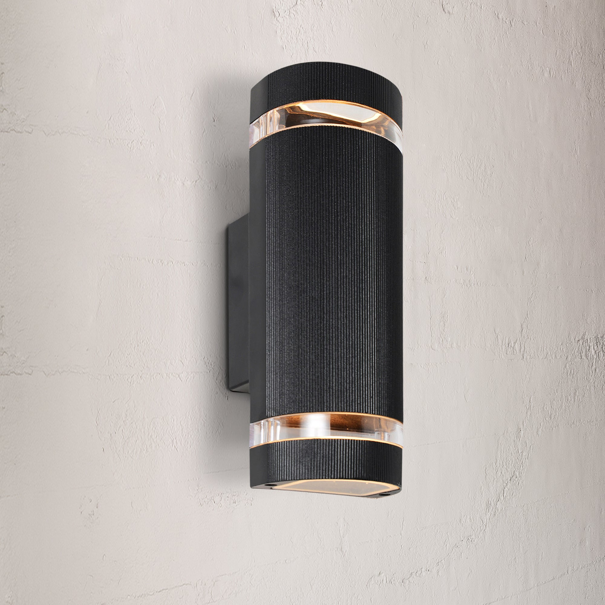 Image of Helios Black Up Down Outdoor Light Black