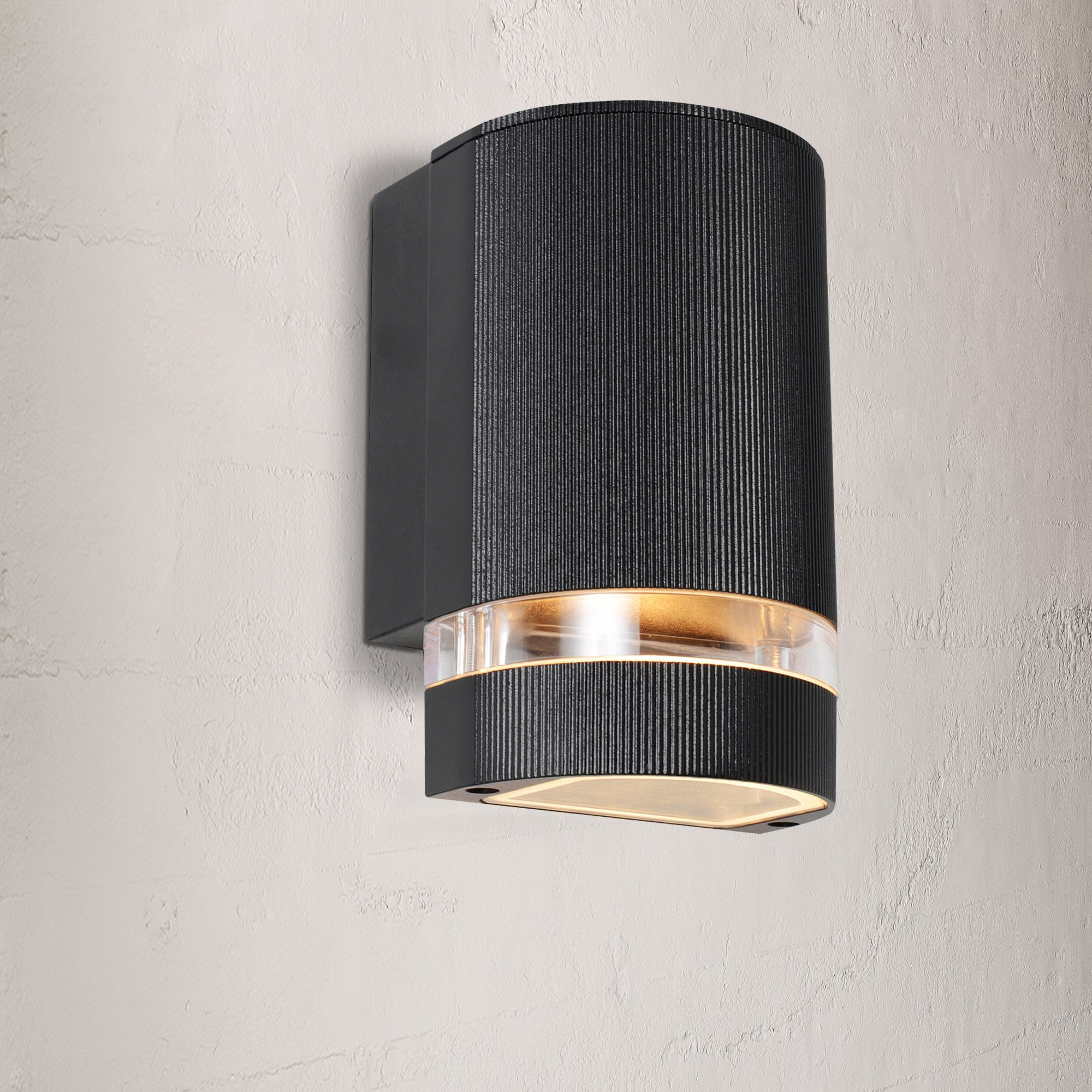 Image of Helios Black Up or Down Outdoor Light Black