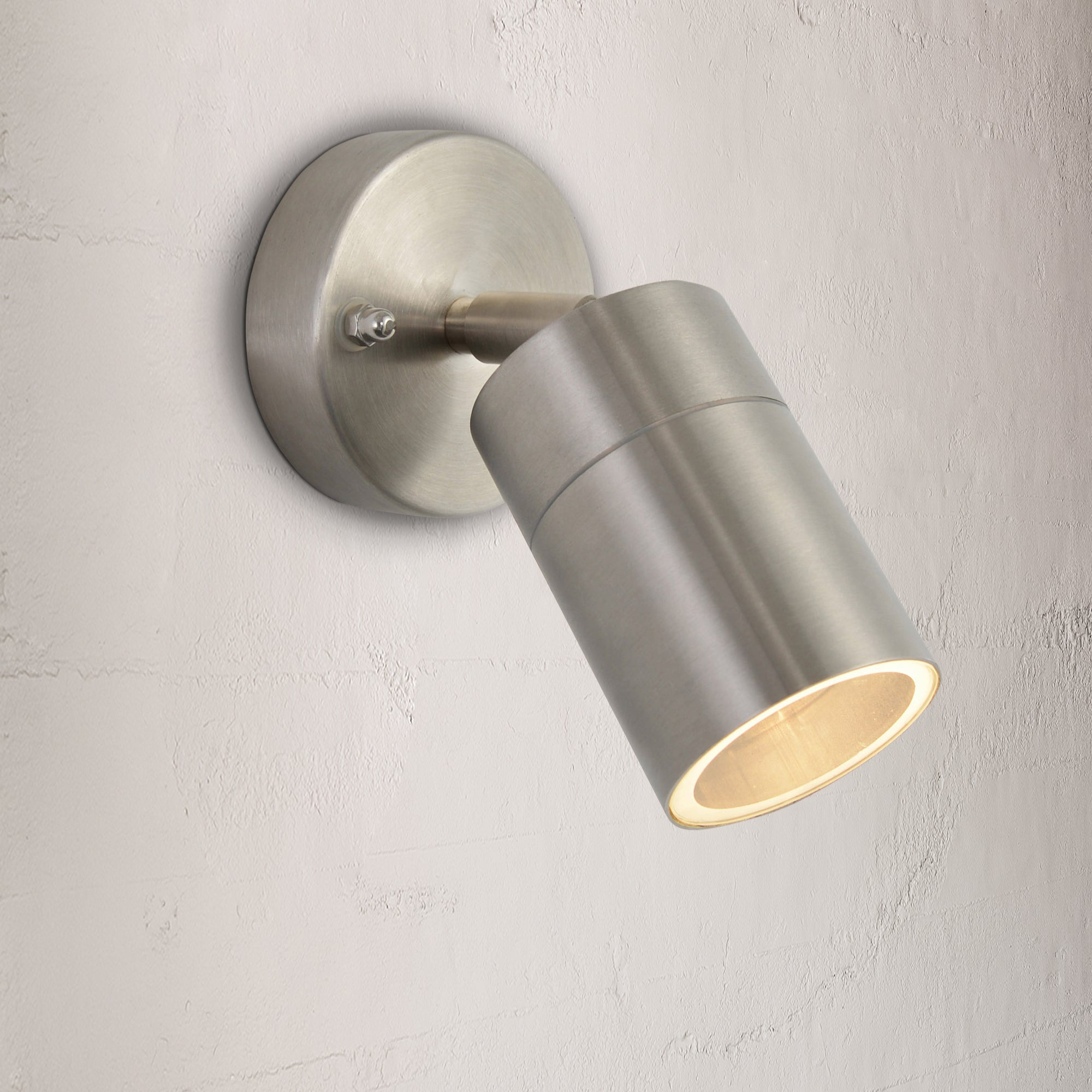 Image of Leto Stainless Steel Outdoor Wall Light Black