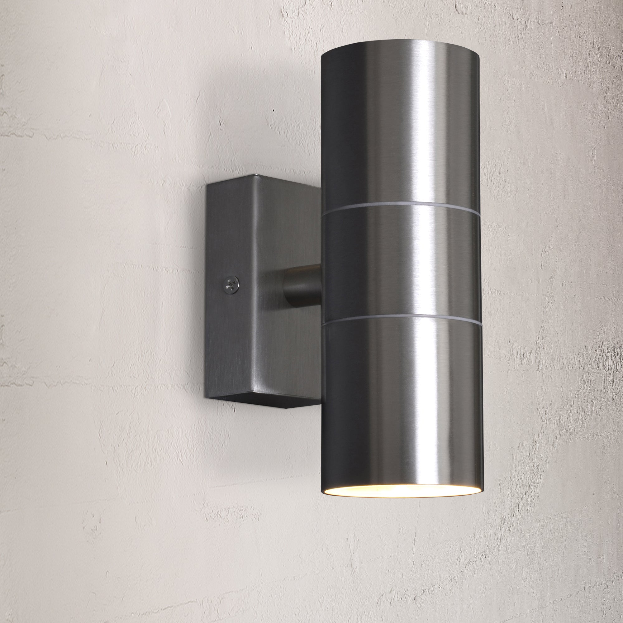 Image of Leto Stainless Steel Up Down Outdoor Wall Light Stainless Steel