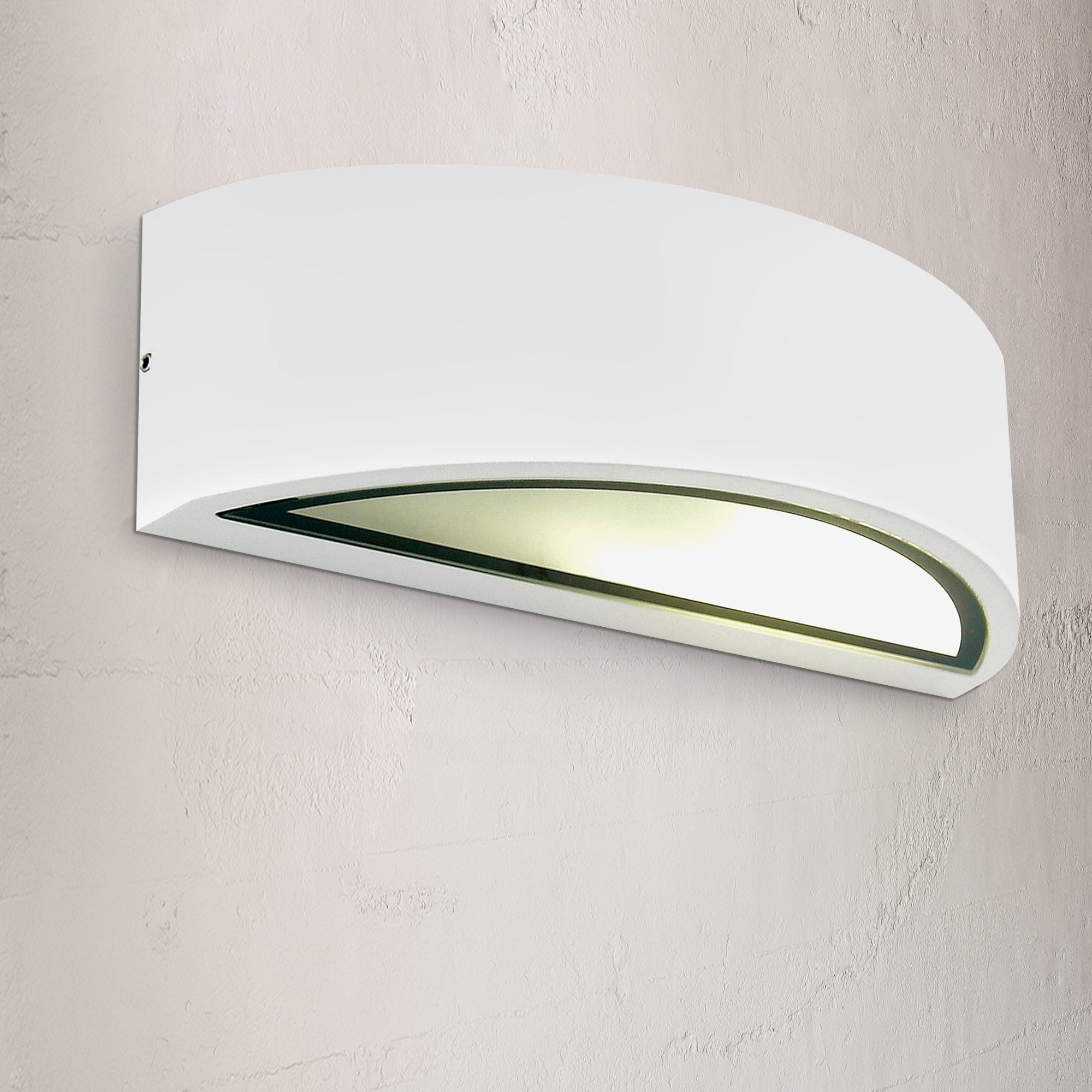 Image of Selene White Curved Up Down Wall Light White
