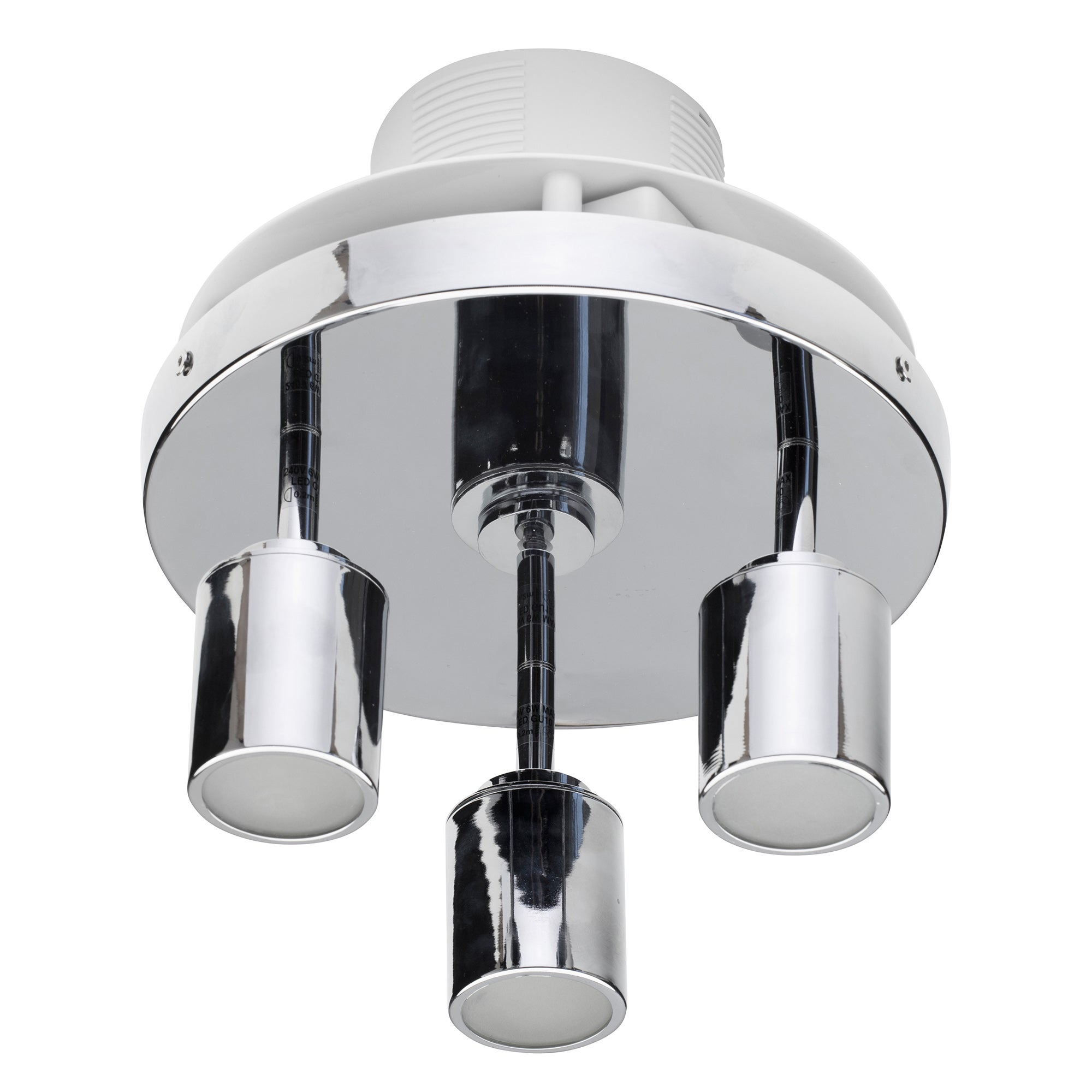 Image of Otano 3 Spot Light Ceiling Fitting and Extractor Fan Chrome