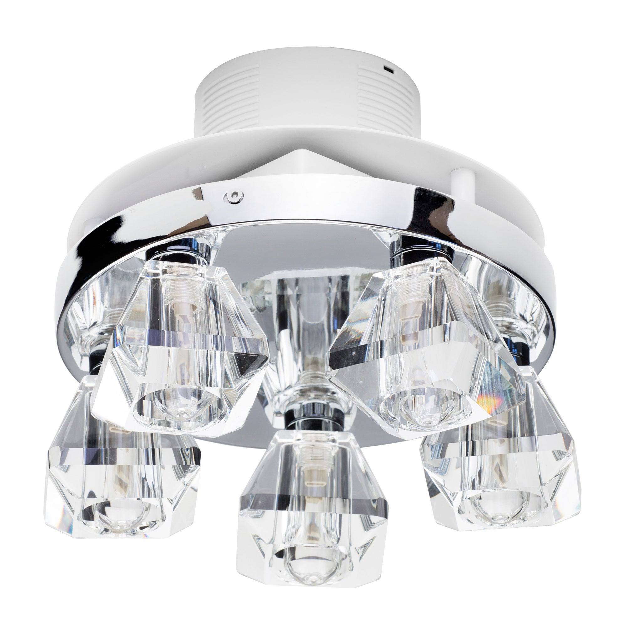 Image of Primavera 5 Light Ceiling Fitting and Extractor Fan Chrome