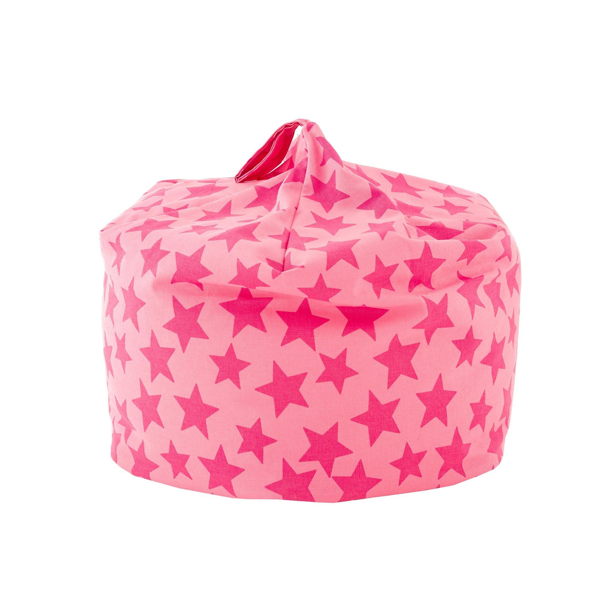Kids Pink Star Bean Bag Pink