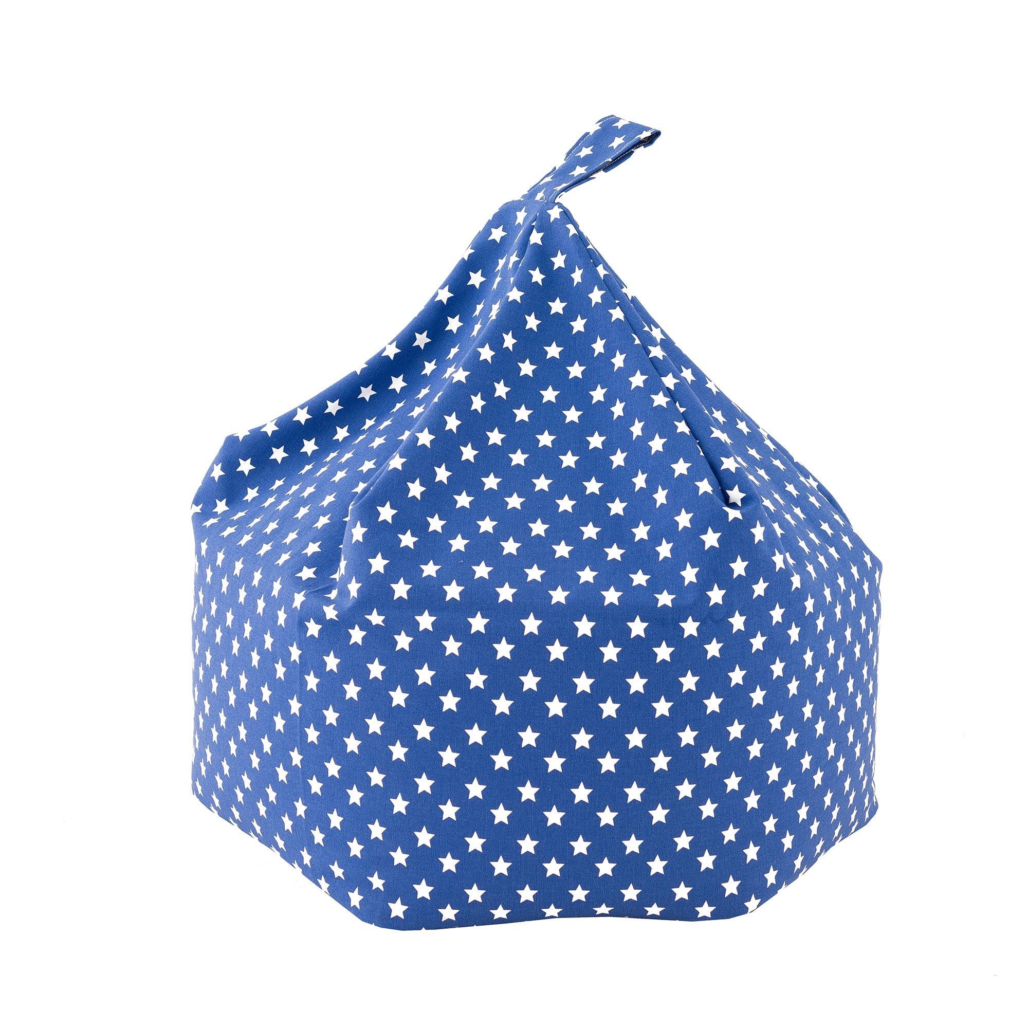 Kids Blue Star Bean Bag Blue
