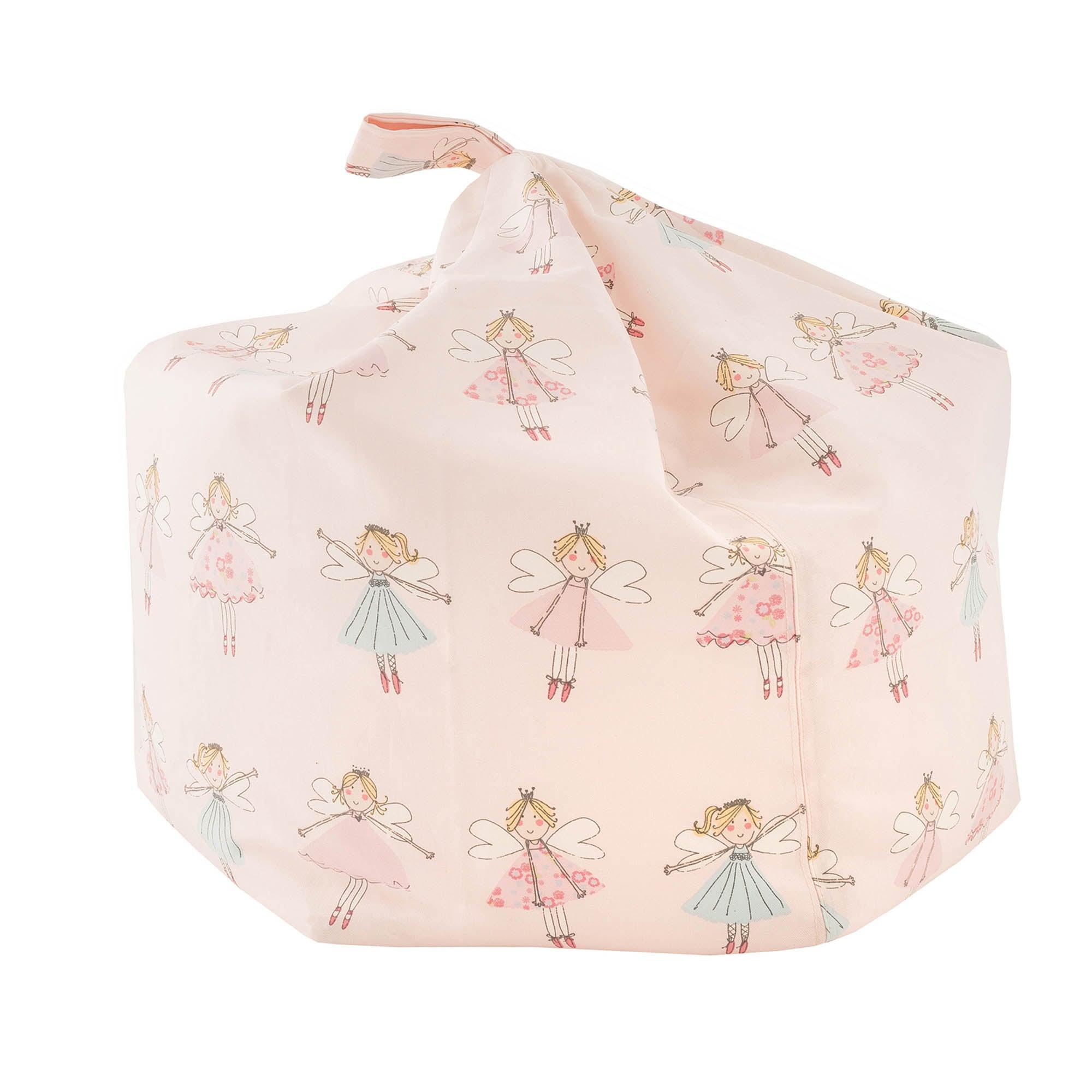 Kids Fairies Bean Bag Pink