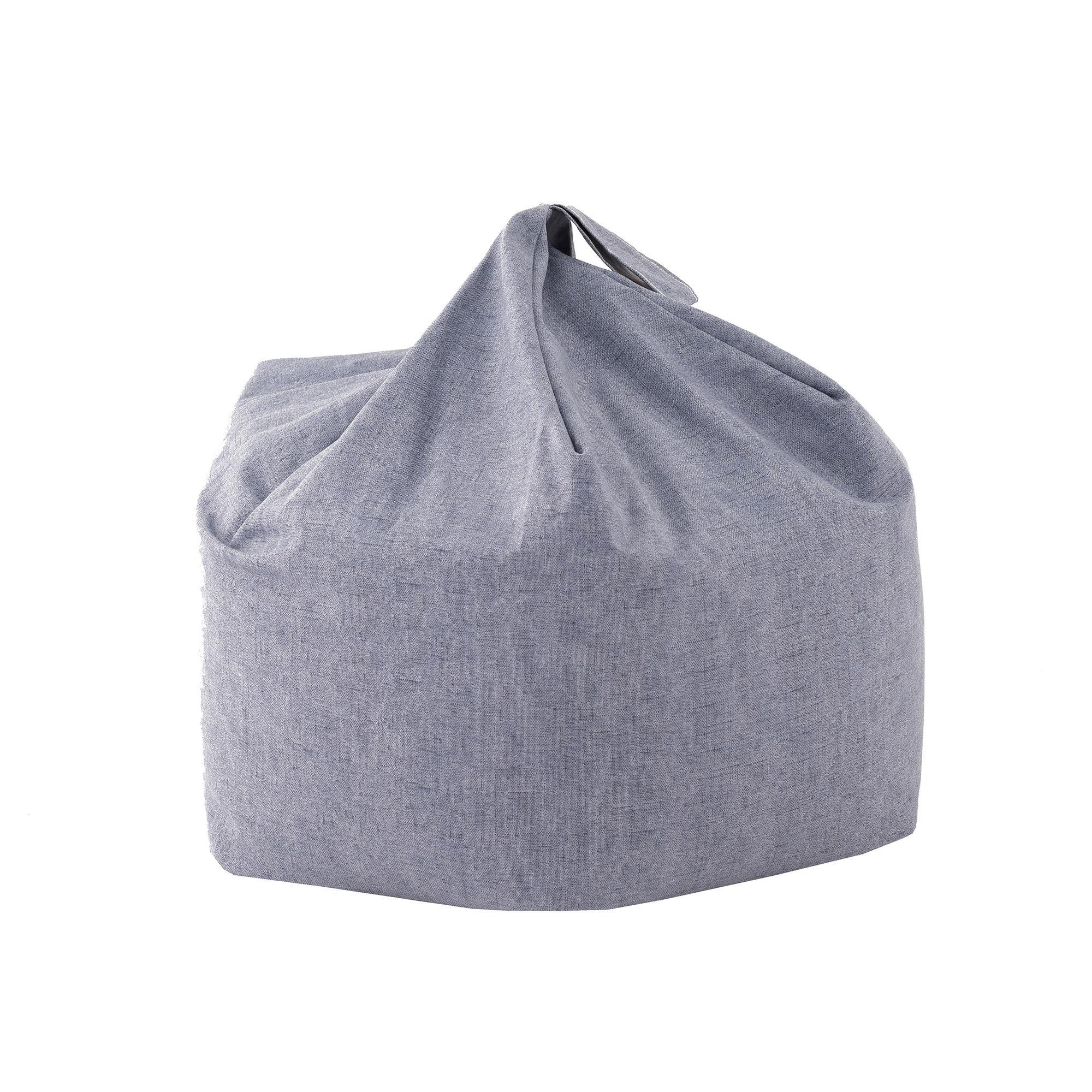 Kids Denim Blue Bean Bag Blue