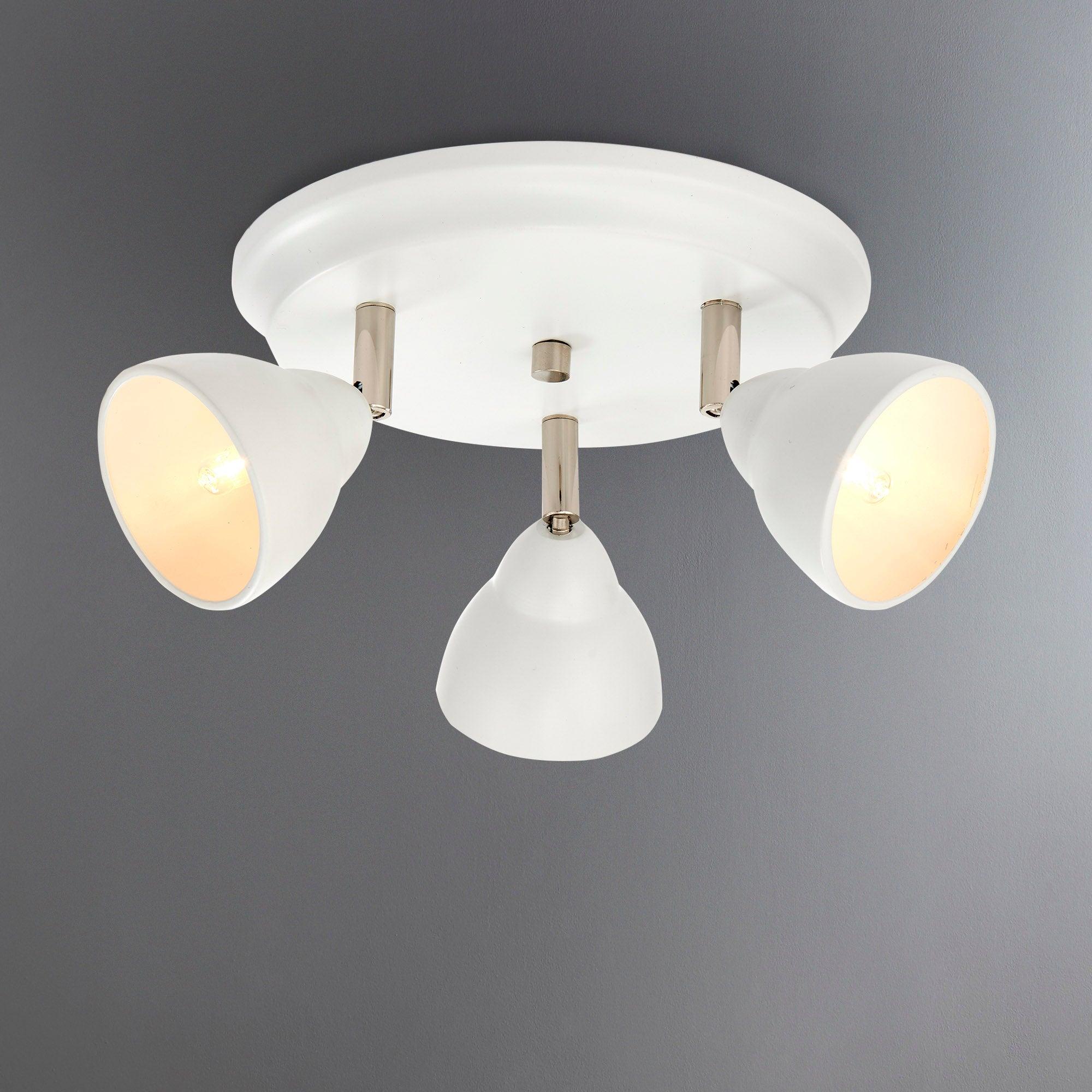 Photo of Moraya matt white 3 light spotlight white