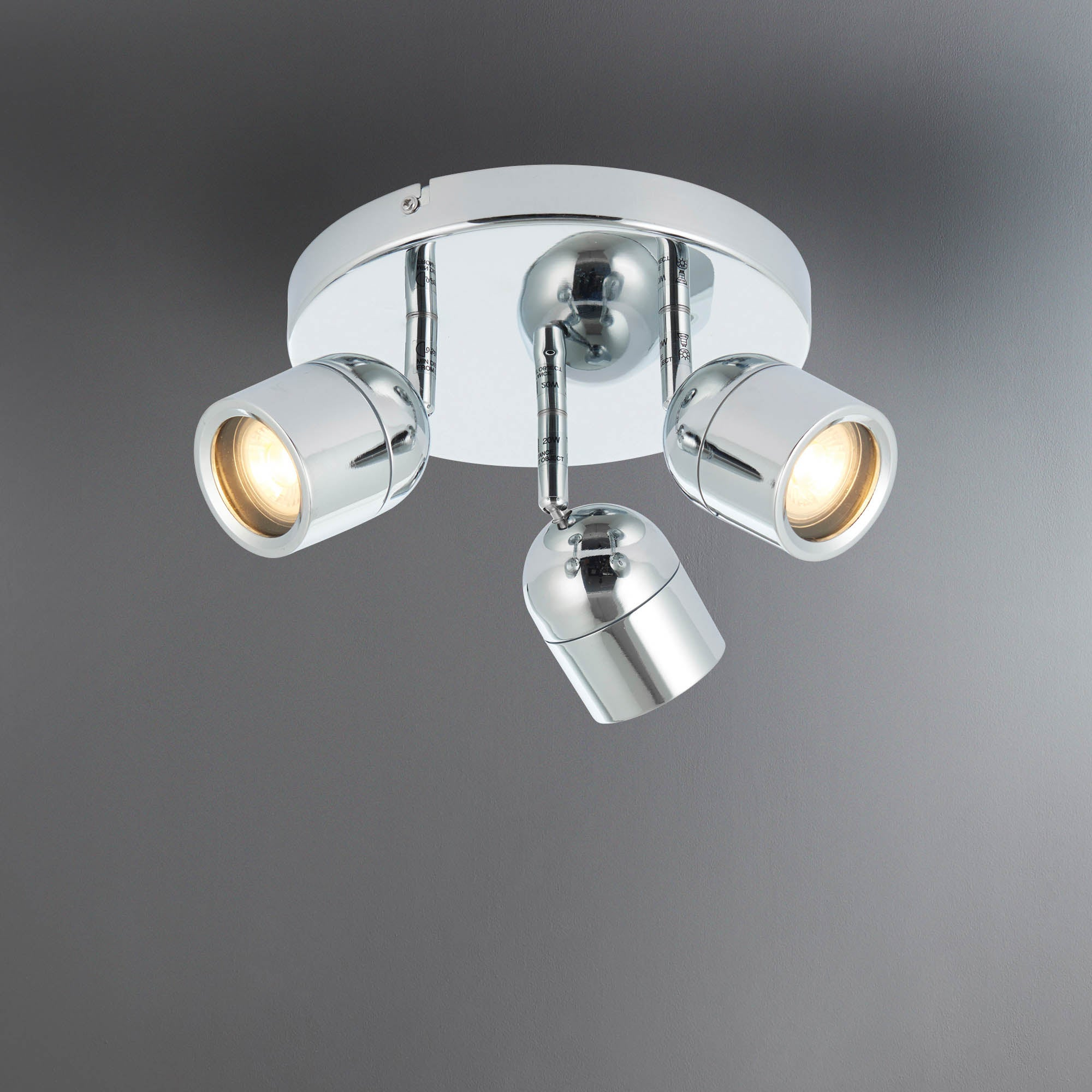 Image of Landis Chrome 3 Light Spotlight Chrome