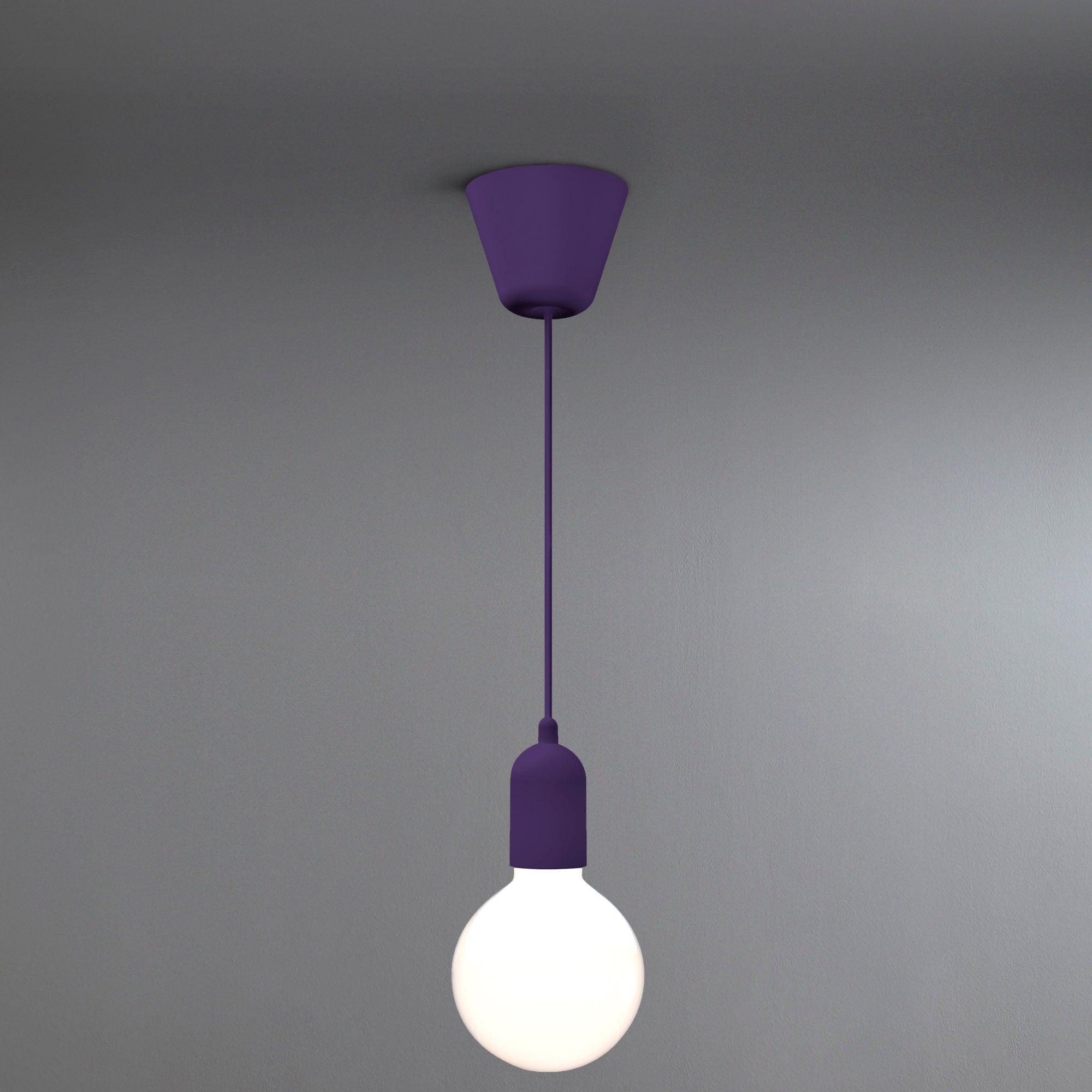 Image of Funk Suspension Purple Light Fitting Purple