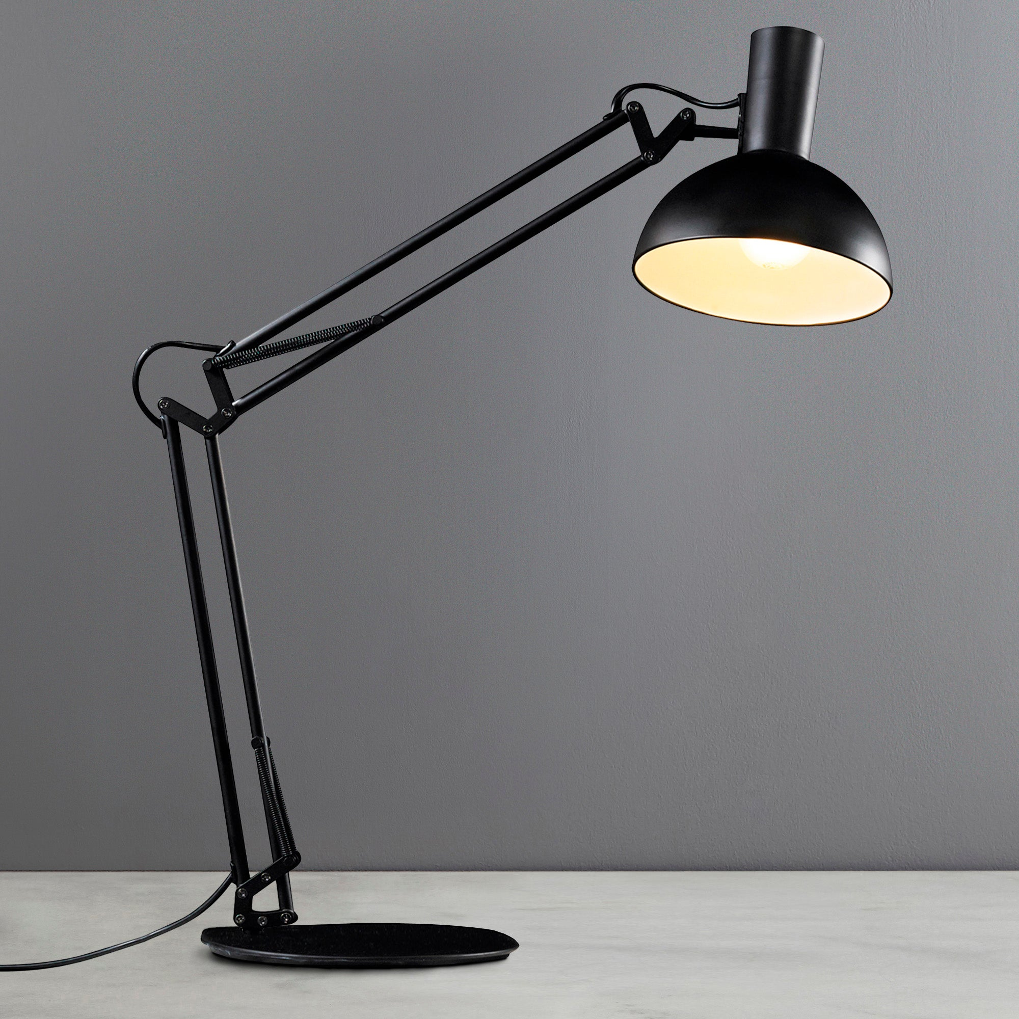 Image of Arki Black Table Clamp Wall Lamp Black