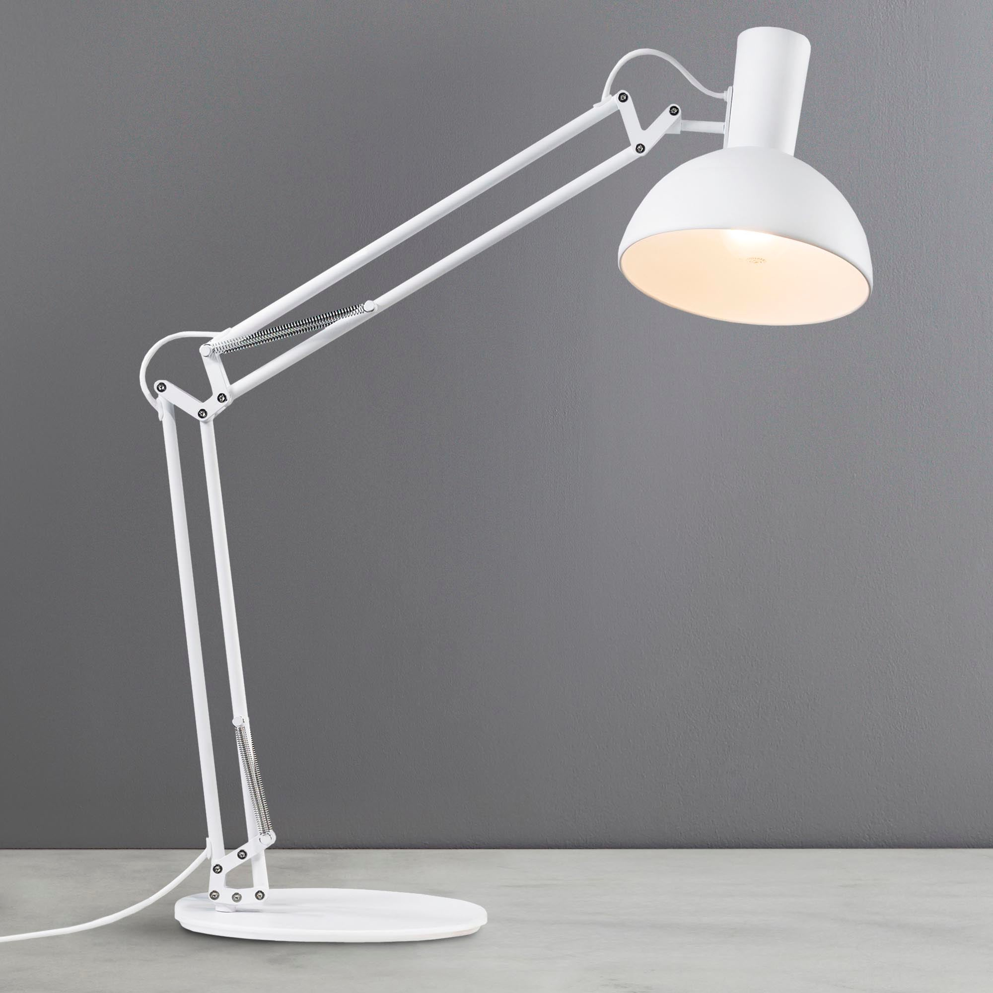 Image of Arki White Table Clamp Wall Lamp White