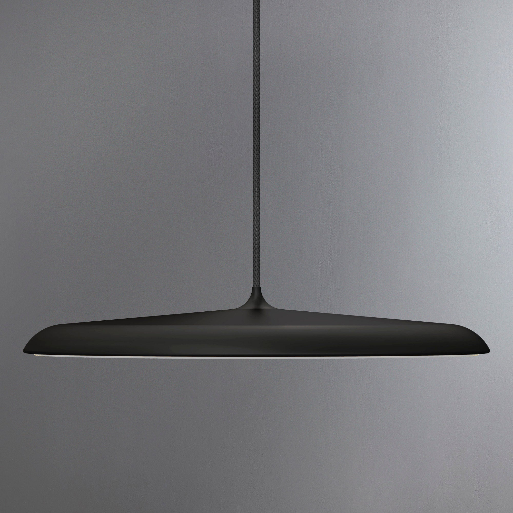 Image of Artist Large Black LED Pendant Light Fitting Black