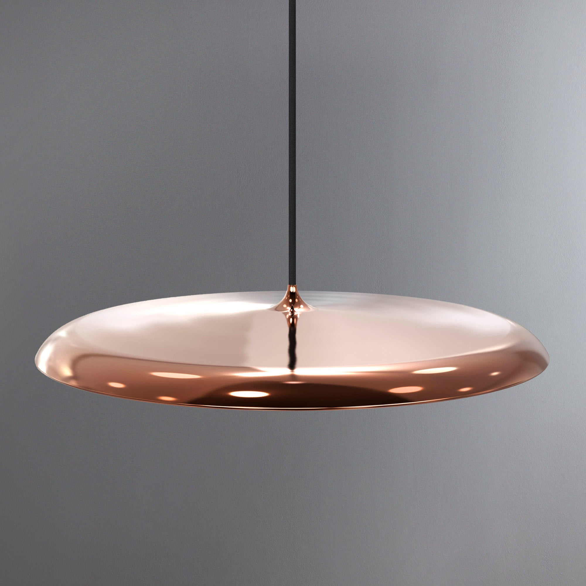 Image of Artist Large Copper LED Pendant Light Fitting Copper