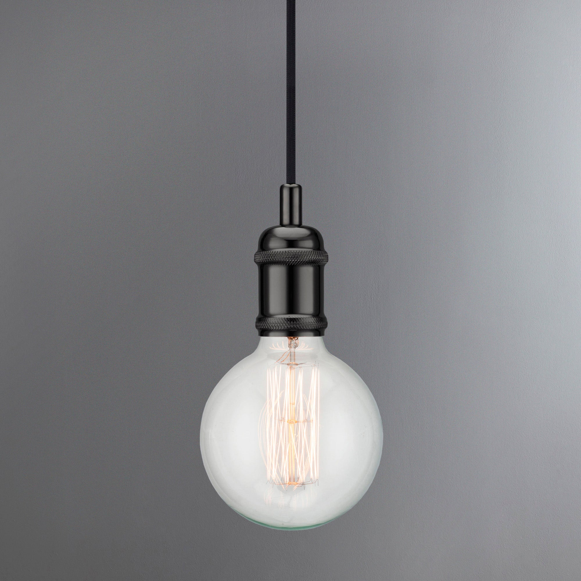 Image of Avra Black Suspension Light Pendant Black