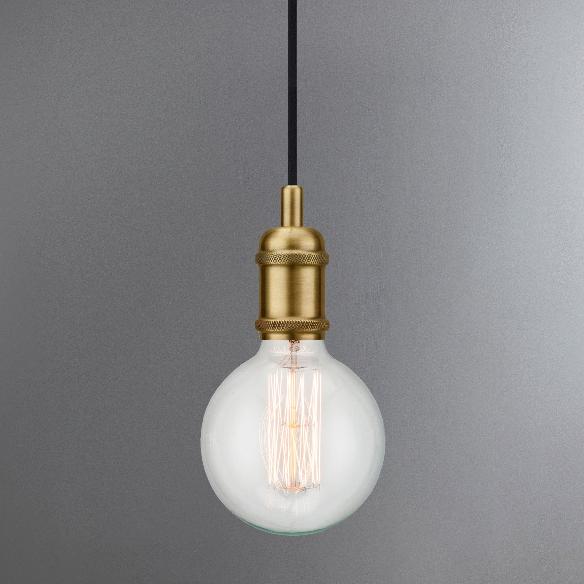 Image of Avra Brass Suspension Light Pendant Antique Brass