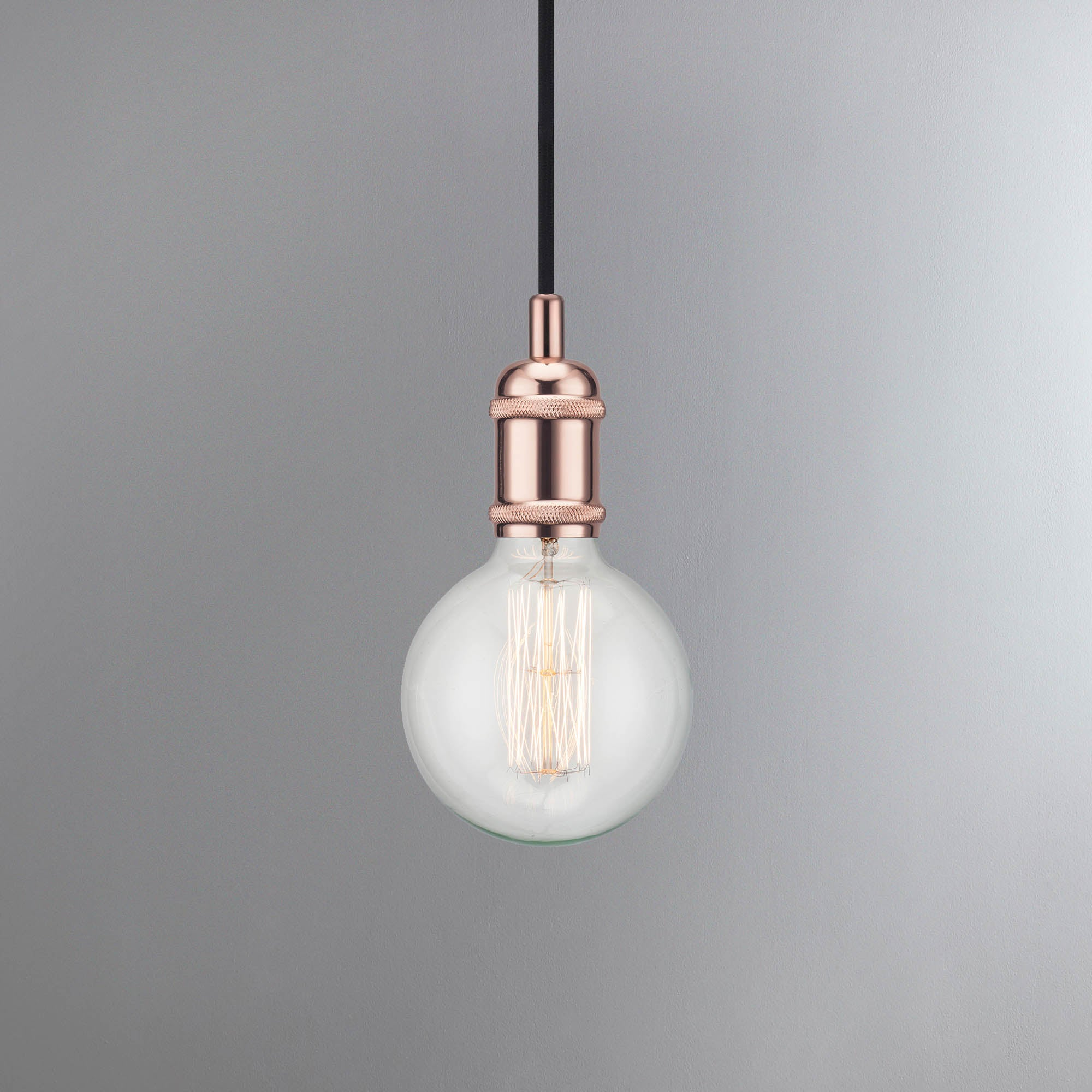 Image of Avra Copper Suspension Light Pendant Copper