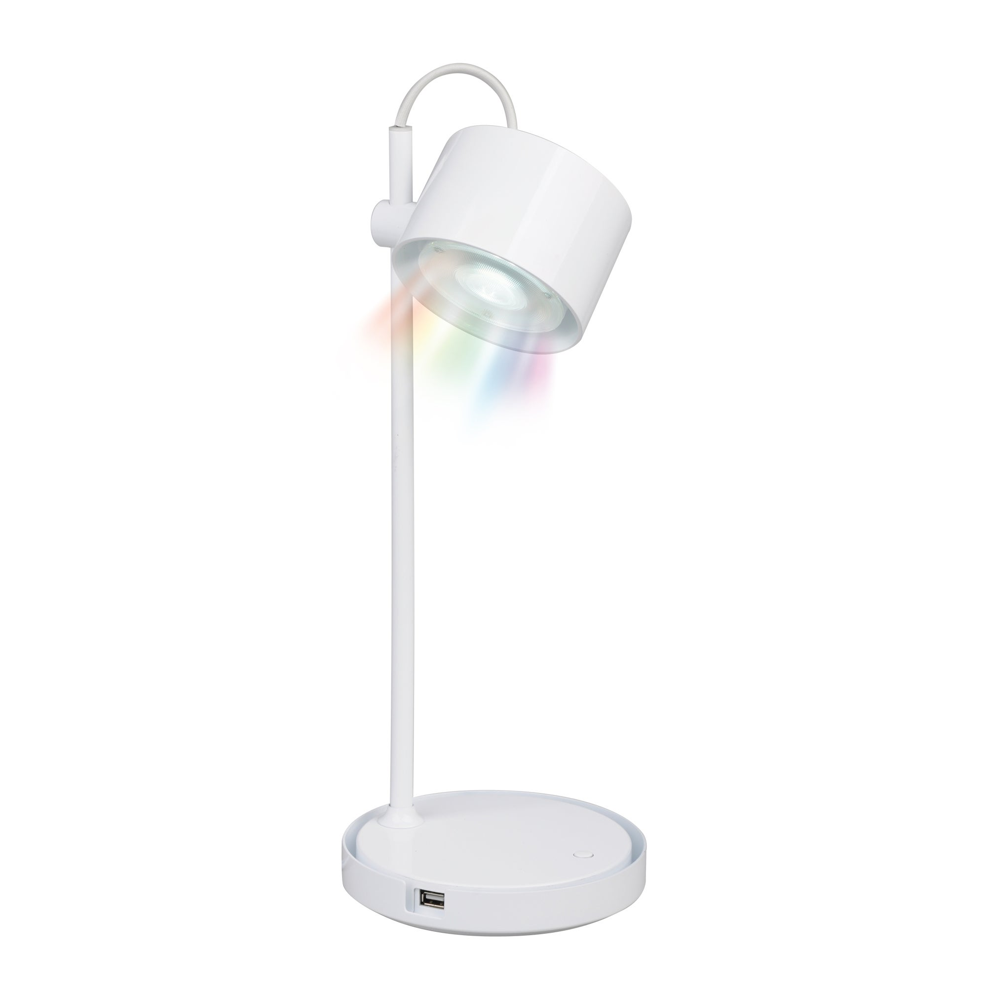 Photo of Idual jasmine white table lamp with remote control gloss white