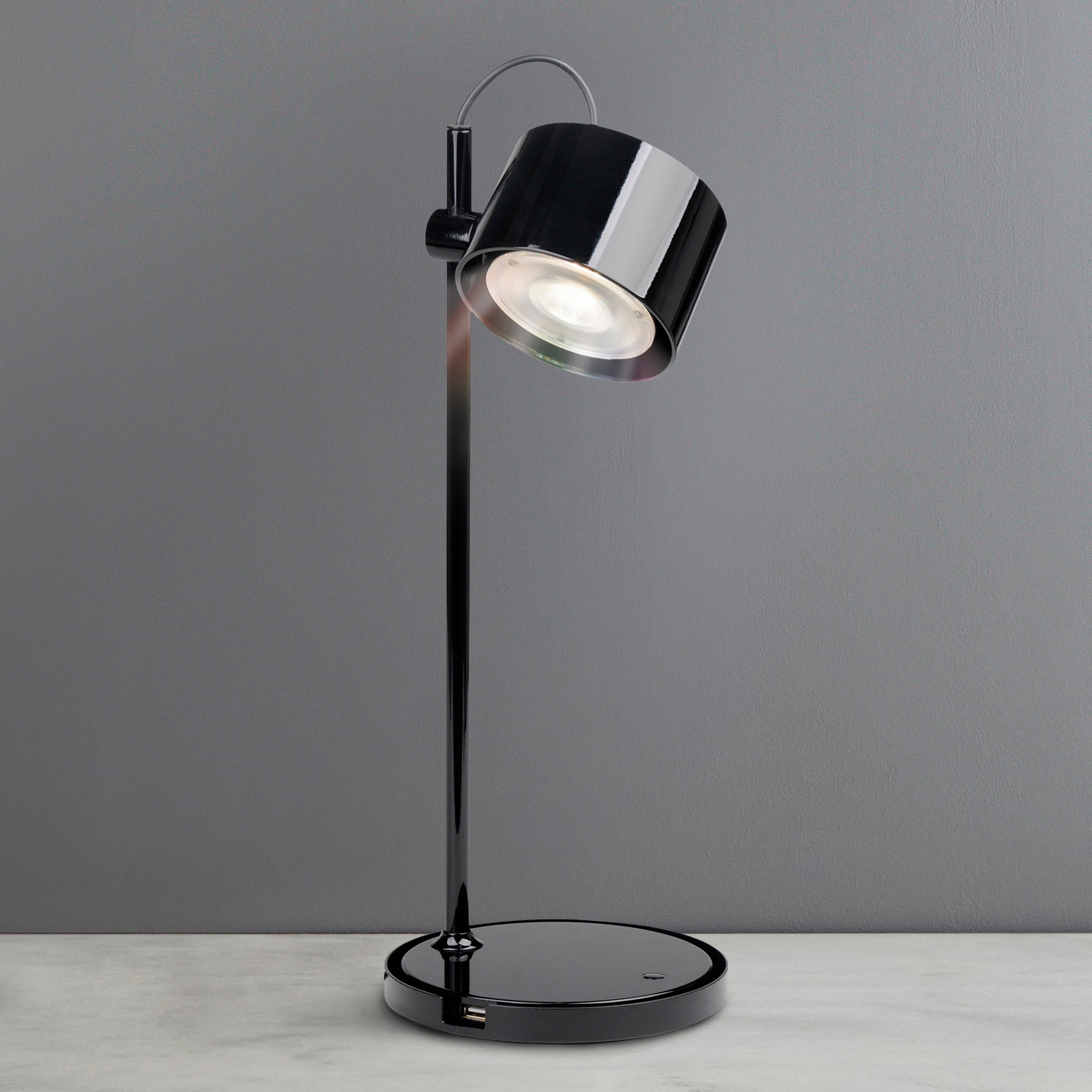 Image of iDual Jasmine Black Table Lamp with Remote Control Black