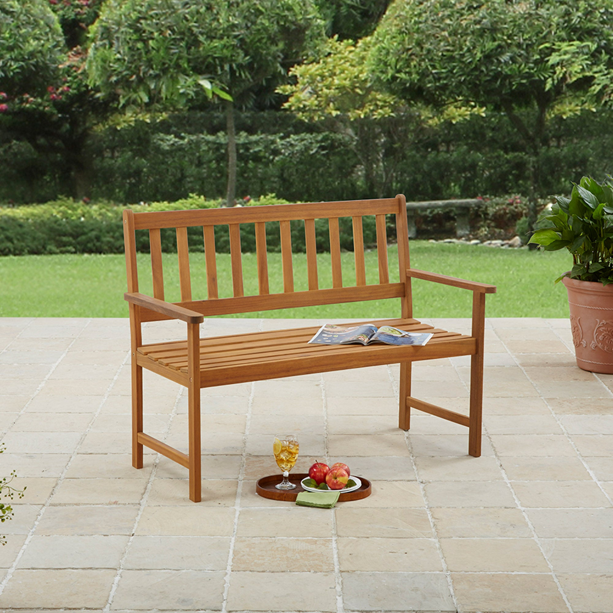 Photo of Wooden bench wood -brown-