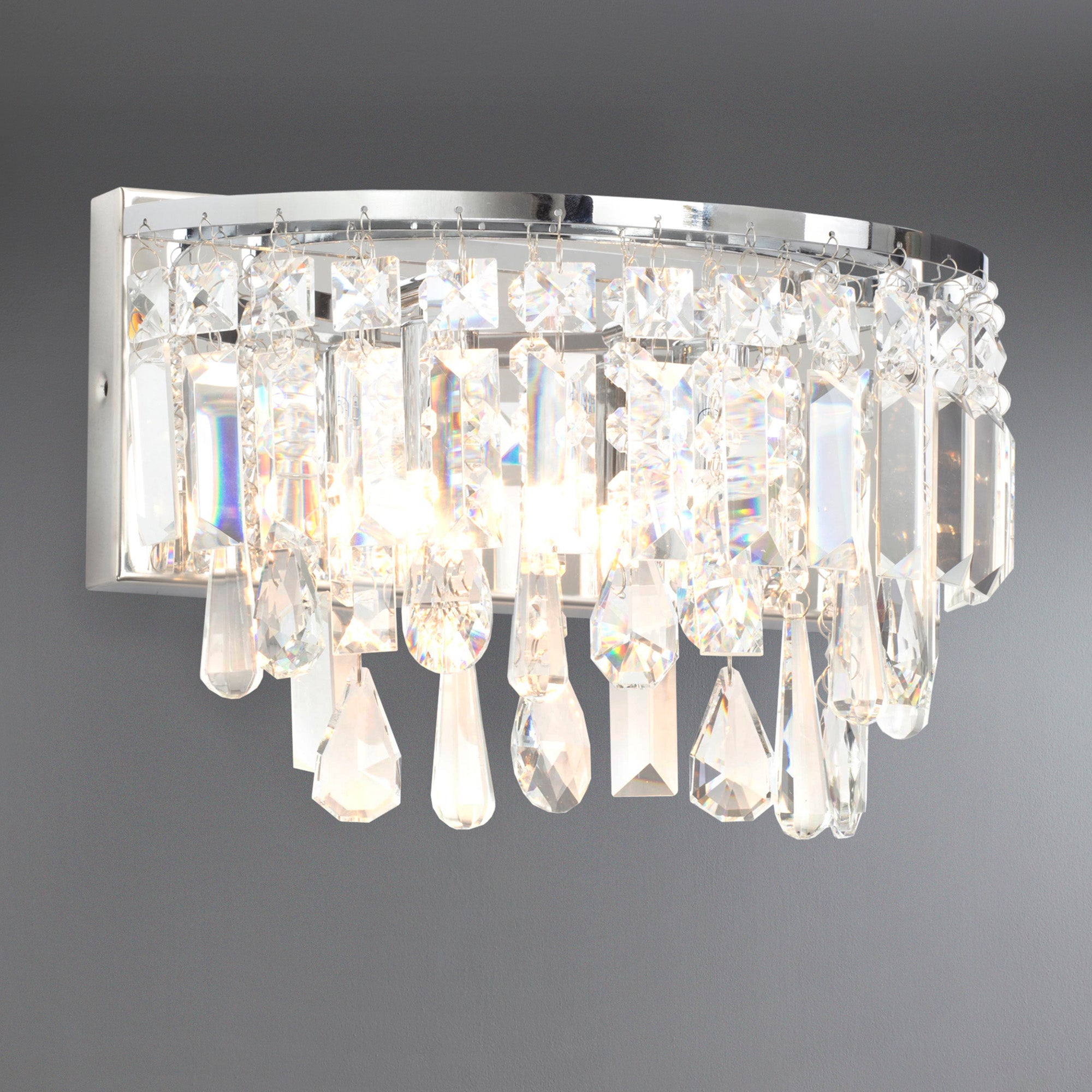 Image of Marquis by Waterford Bresna Chrome Wall Light Chrome