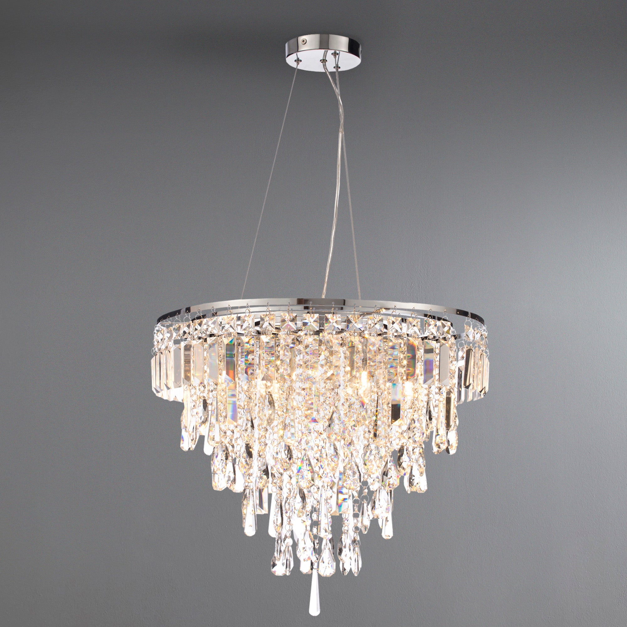Image of Marquis by Waterford Bresna Chrome 6 Light Pendant Chrome