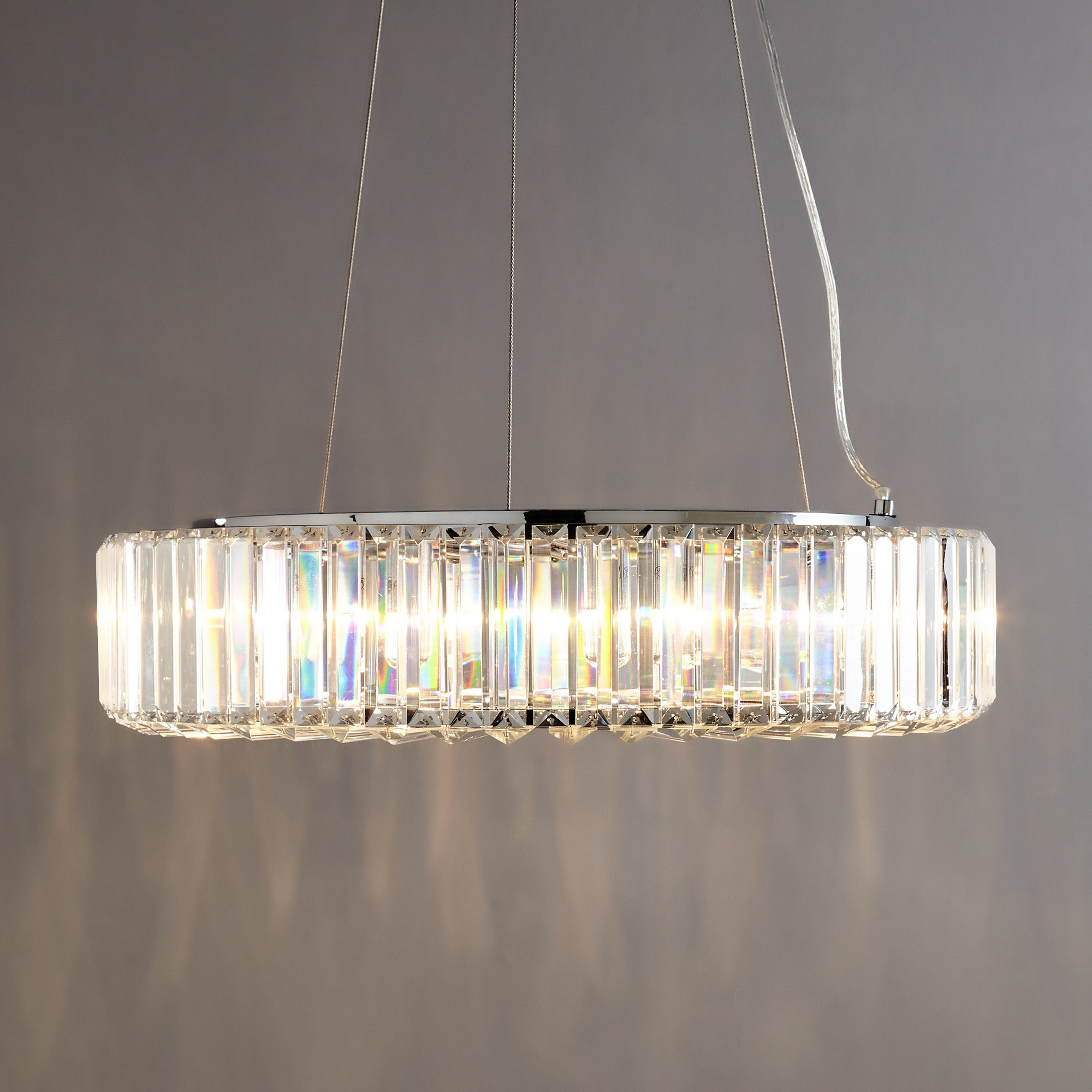 Image of Marquis by Waterford Foyle Chrome 8 Light Bar Pendant Chrome